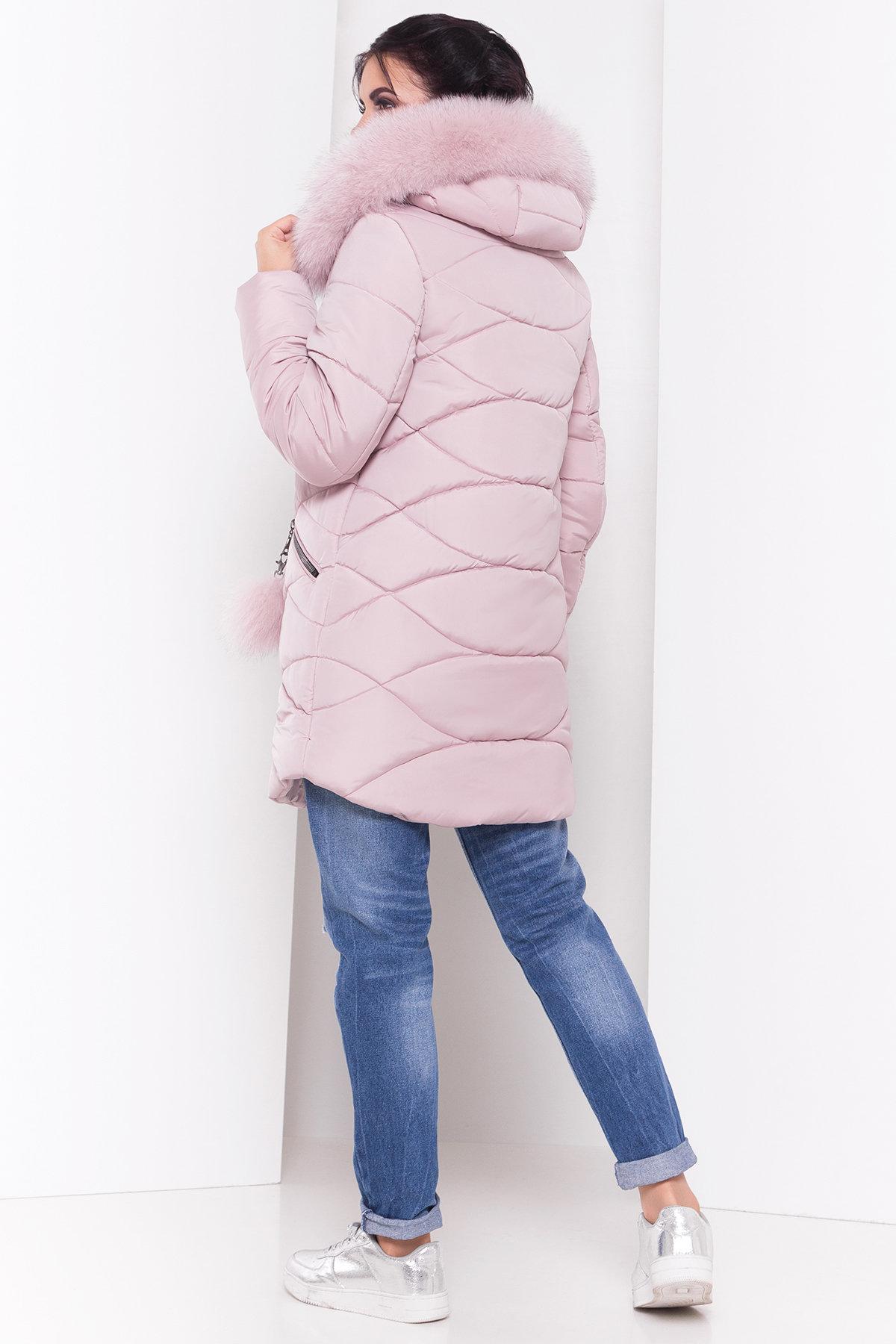 Пуховик с капюшоном Ингрид 3267 АРТ. 16793 Цвет: Серо-розовый - фото 3, интернет магазин tm-modus.ru