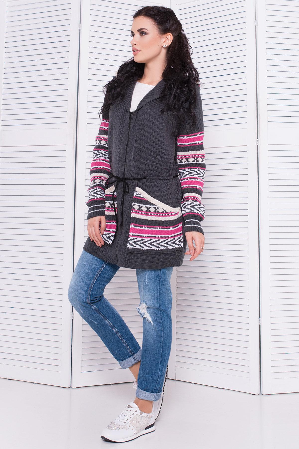 женский вязаный свитер Парка вязаная 3454