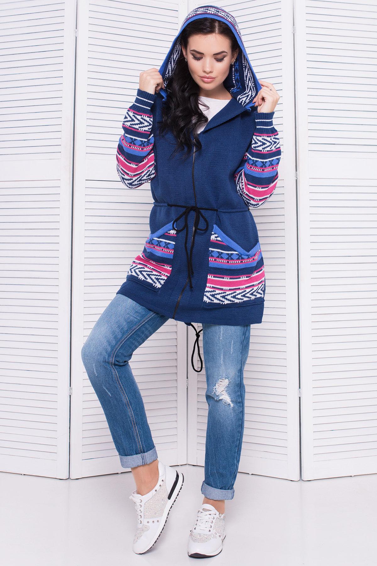 красивые вязаные свитера Парка вязаная 3454