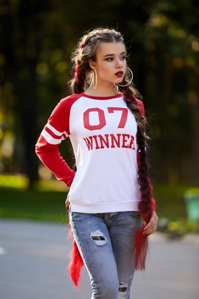07 Winner красный кофта Виннер д/р