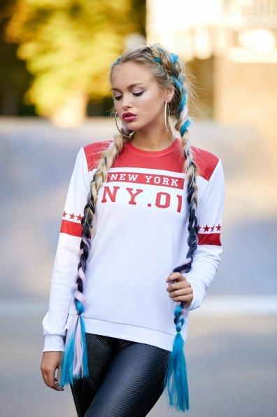 New York красный кофта Свитшот №1Ф  д/р