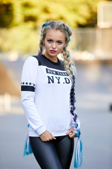 New York черный кофта Свитшот №1Ф (весна) д/р