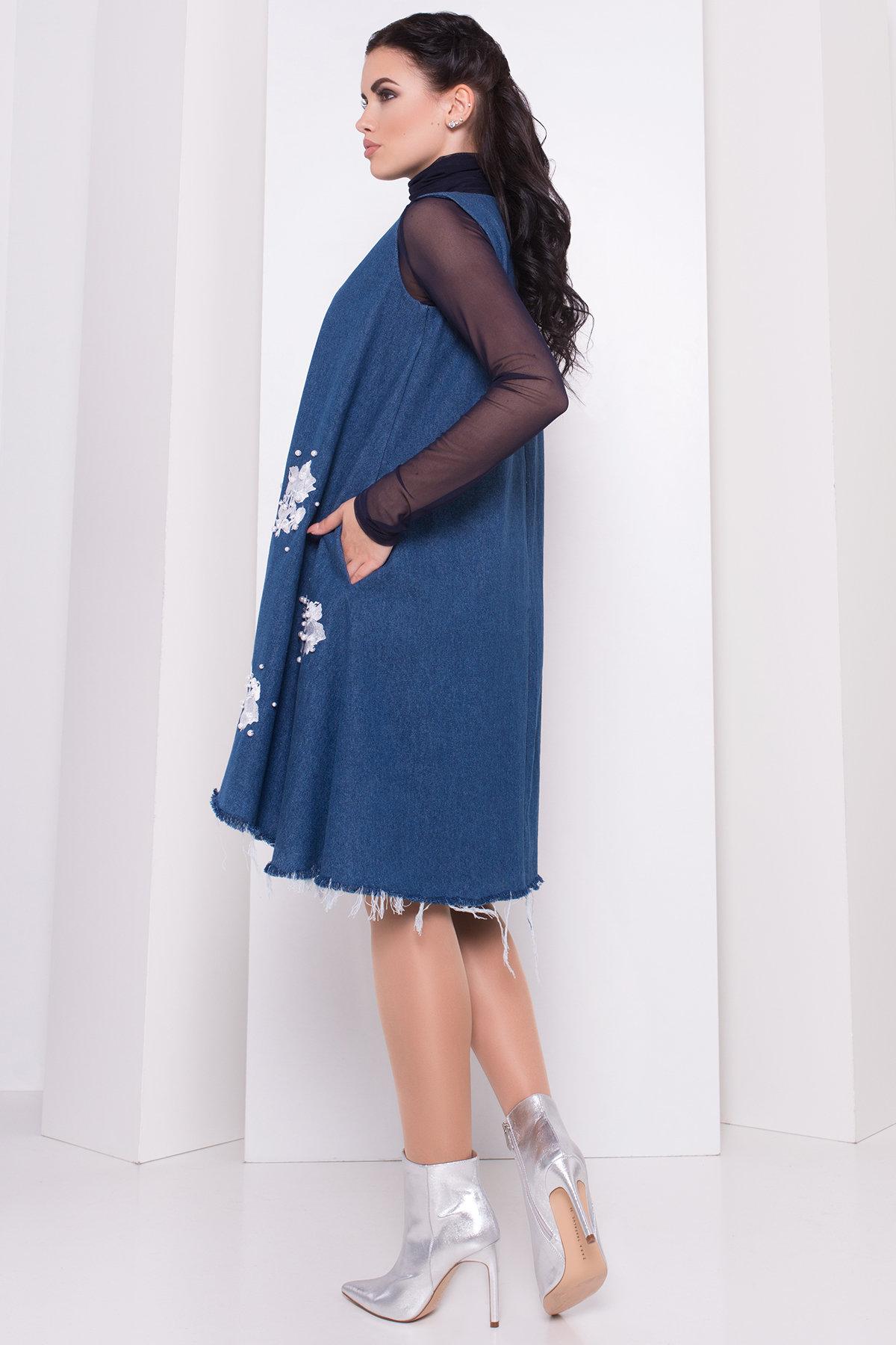 Платье Индира 3404 АРТ. 17363 Цвет: Светлый джинс - фото 1, интернет магазин tm-modus.ru