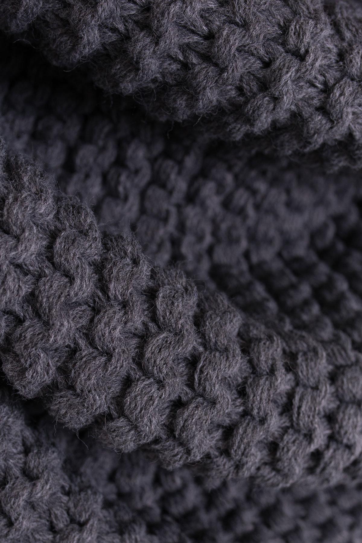 Шарф-хомут крупной вязки Цвет: Тёмно-серый