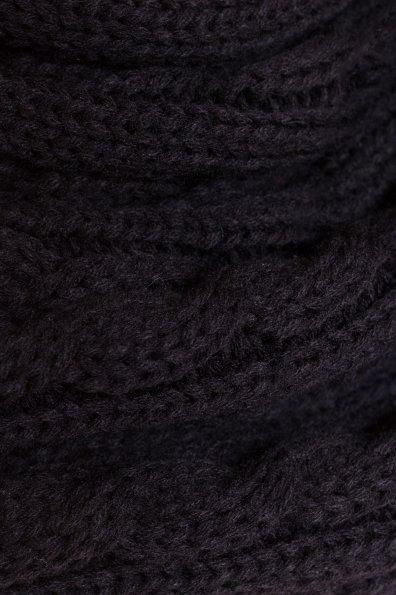 Шарф-хомут крупной вязки Цвет: Черный