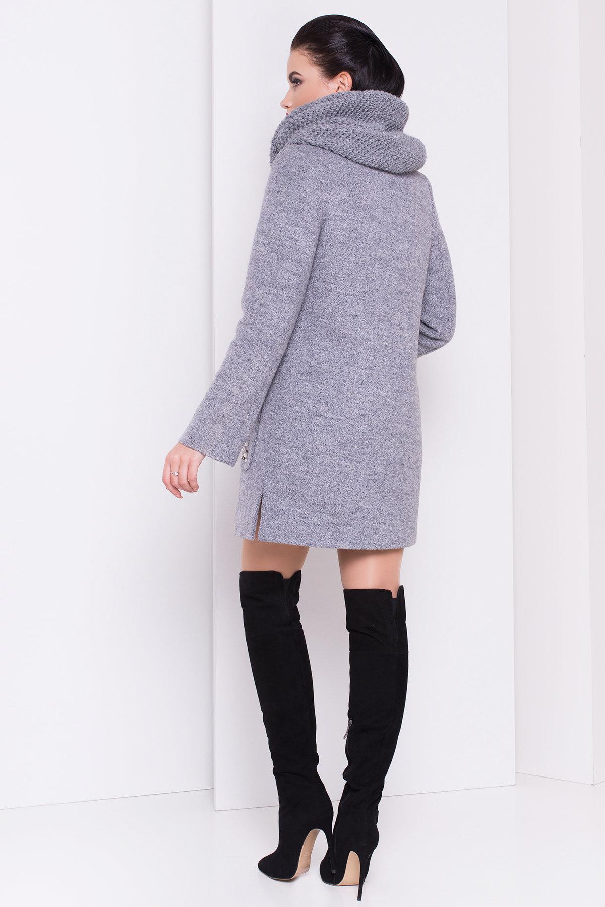 Пальто зима Ажен 3433 АРТ. 17862 Цвет: Серый 48 - фото 4, интернет магазин tm-modus.ru