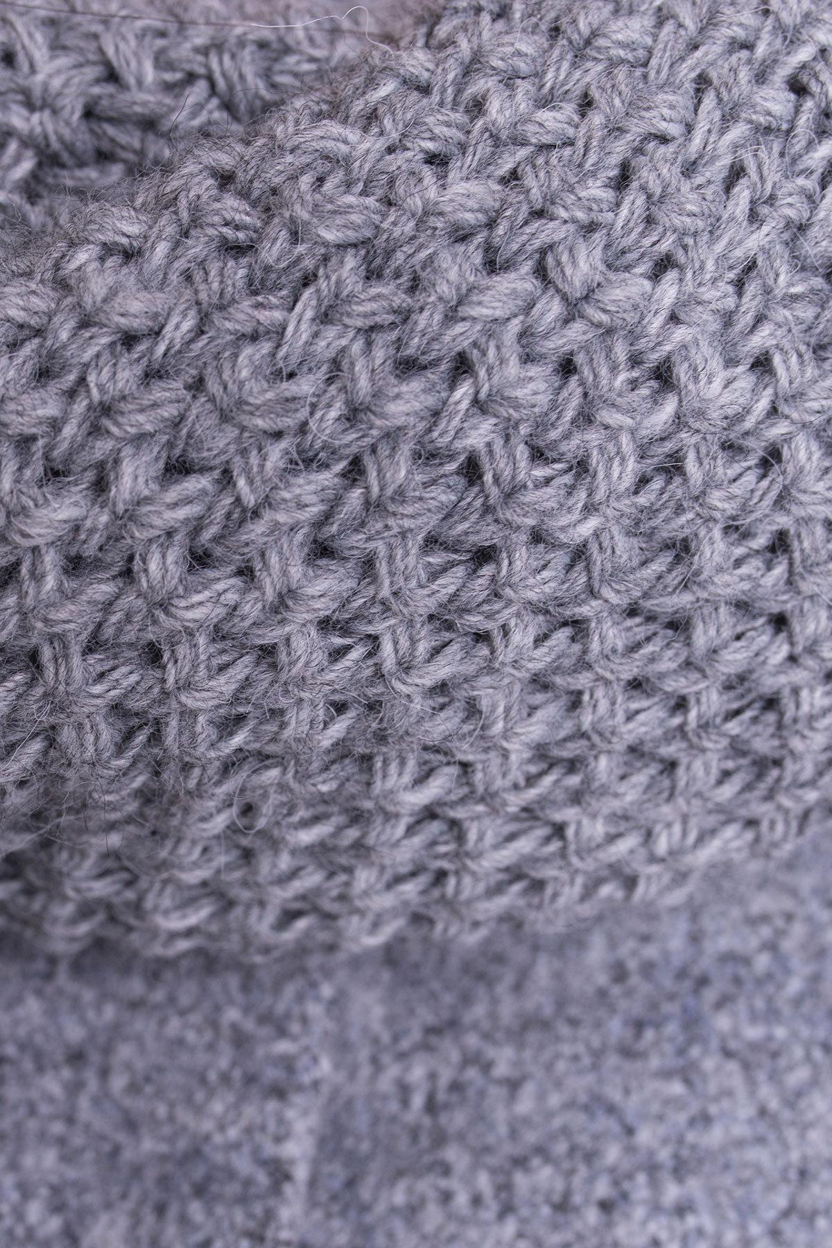 Пальто зима Ажен 3433 АРТ. 17862 Цвет: Серый 48 - фото 6, интернет магазин tm-modus.ru