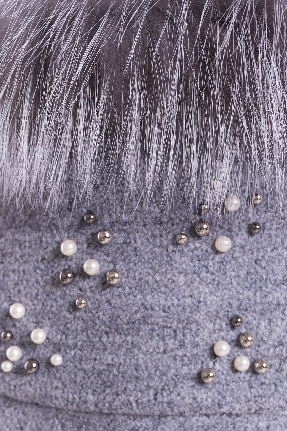 Пальто зима Ажен 3433 АРТ. 17862 Цвет: Серый 48 - фото 5, интернет магазин tm-modus.ru