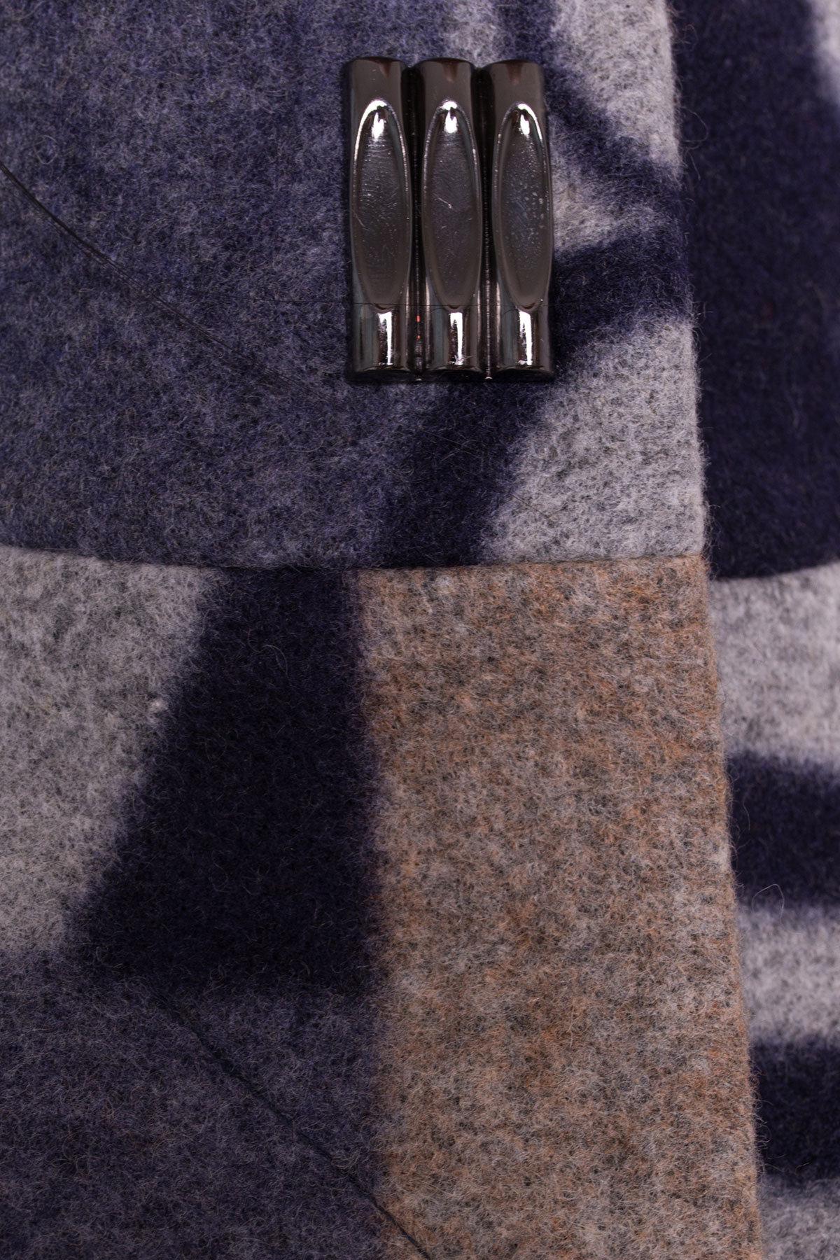 Пальто Луара 0505 АРТ. 6984 Цвет: Тёмно-синий/серый Буквы Д5/С2 - фото 4, интернет магазин tm-modus.ru