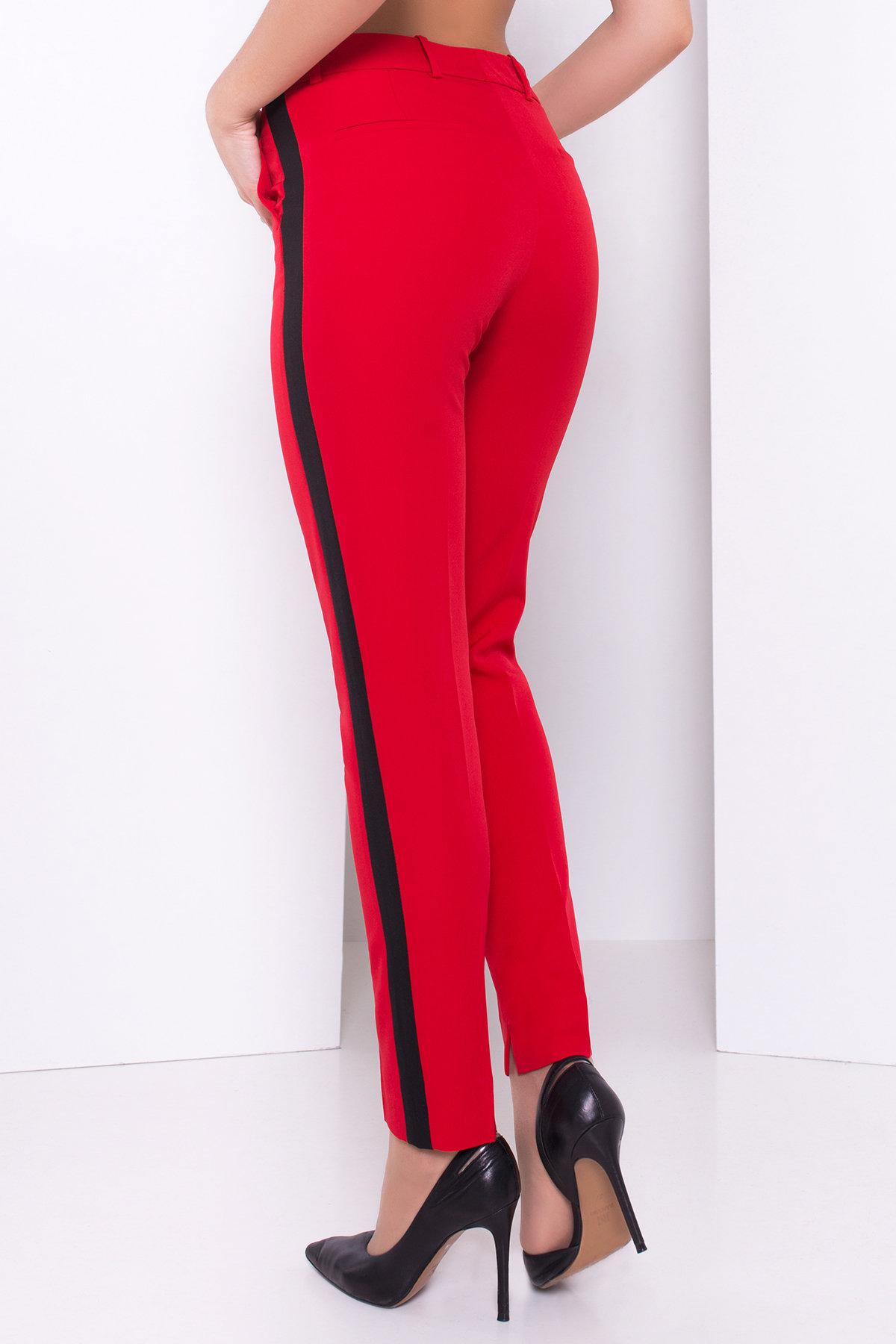 Брюки Макеба 3247 АРТ. 16723 Цвет: Красный/черный - фото 7, интернет магазин tm-modus.ru