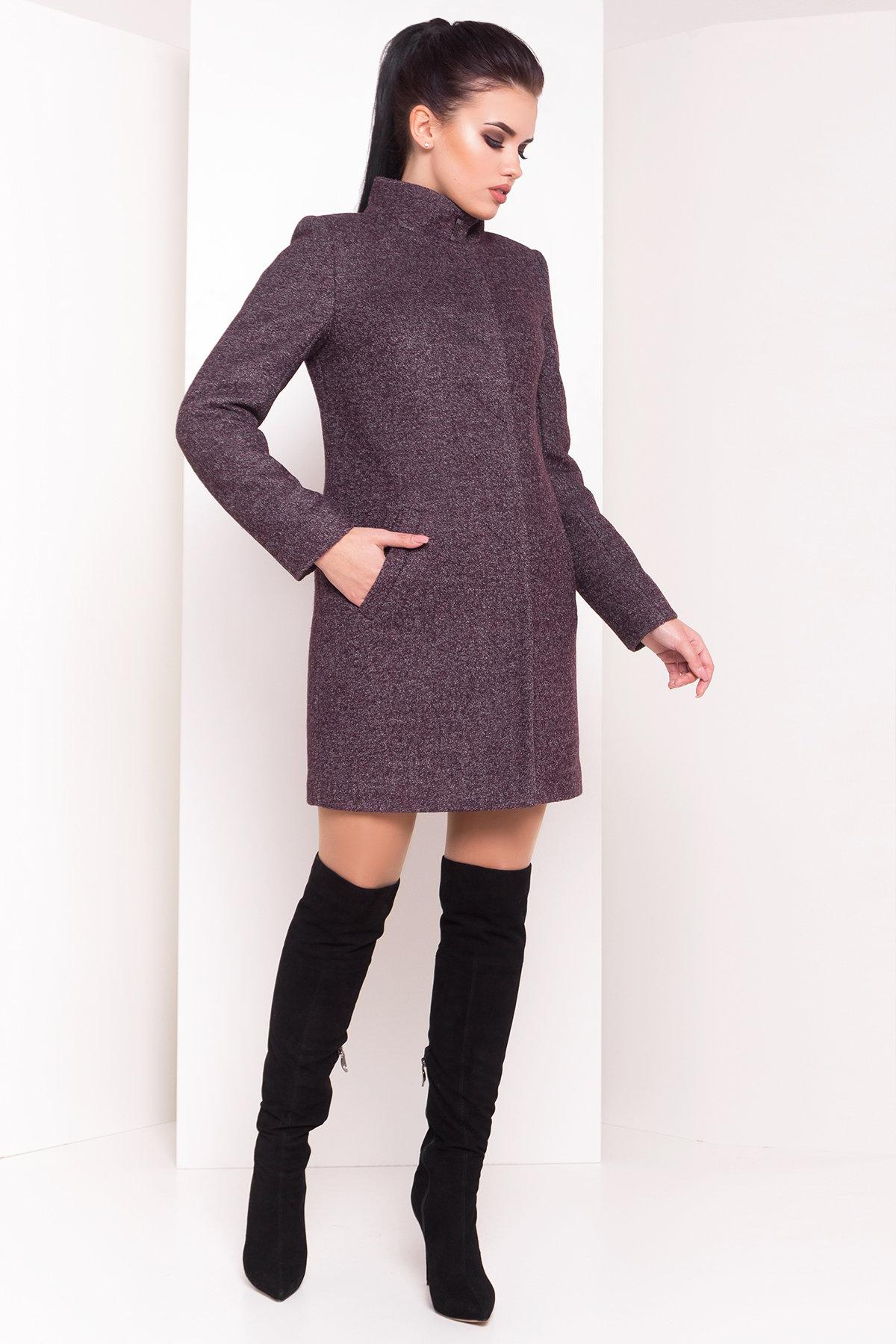 Пальто зима с воротником стойка Фортуна 3401 Цвет: Шоколад