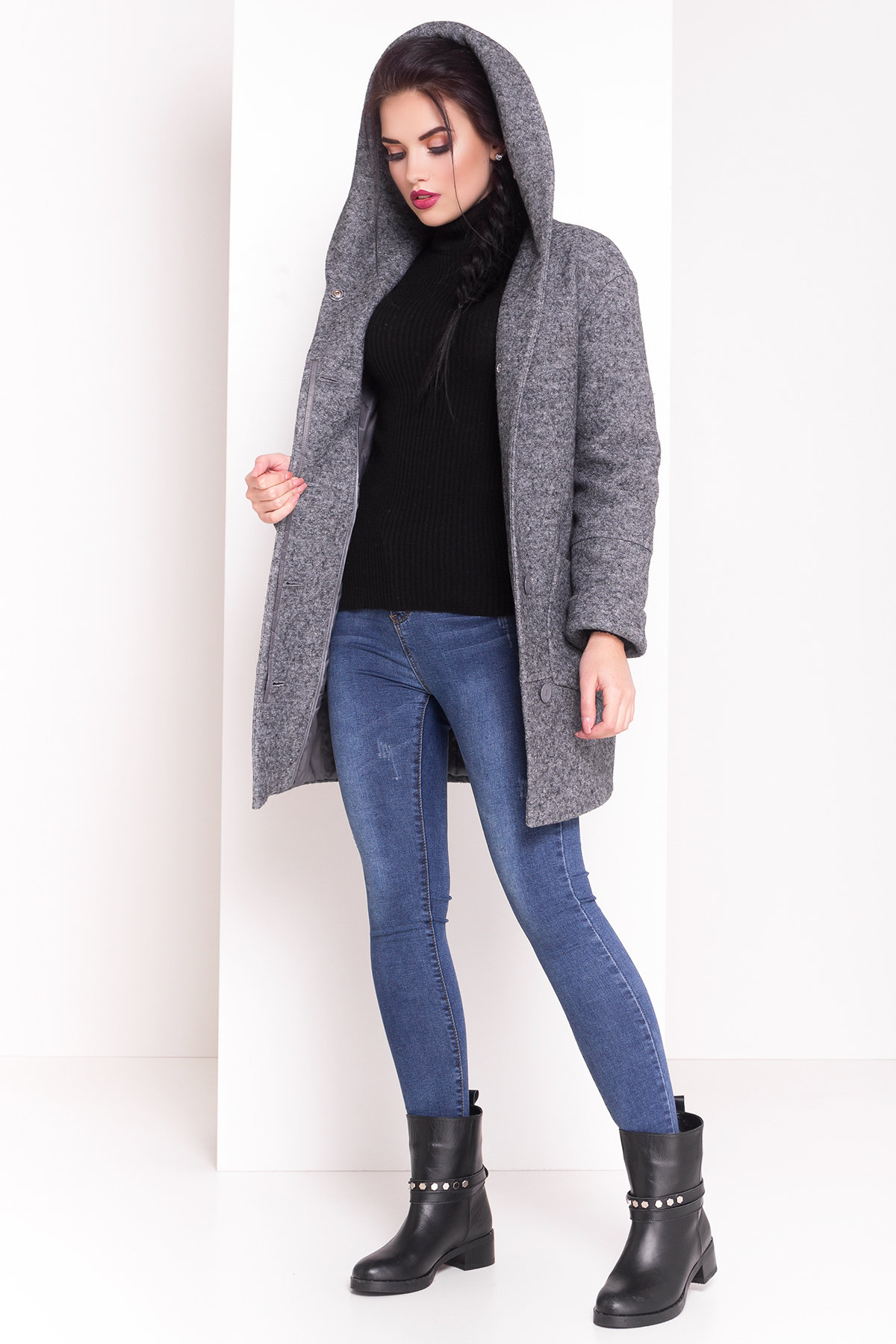 Пальто зима Анита 3599 Цвет: Серый LW-5