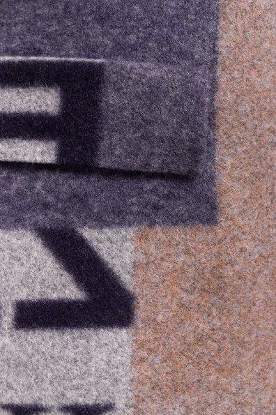 Пальто Микадо 1551  Цвет: Тёмно-синий / серый Буквы Д5/С2