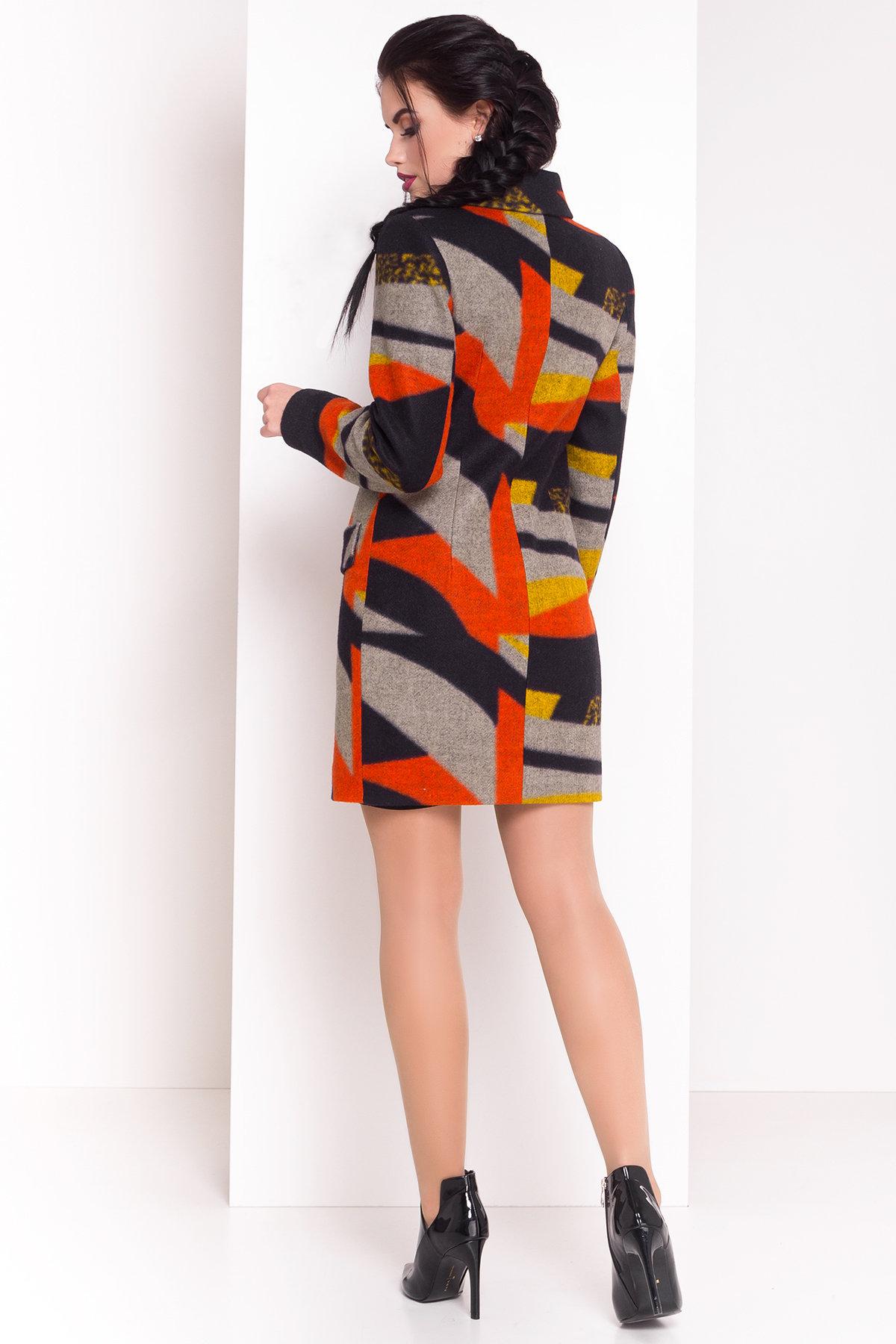 Пальто Микадо 1551  АРТ. 9220 Цвет: Тёмно-синий/серый/теракот/жёлтая-рябь Д1/С1 - фото 3, интернет магазин tm-modus.ru