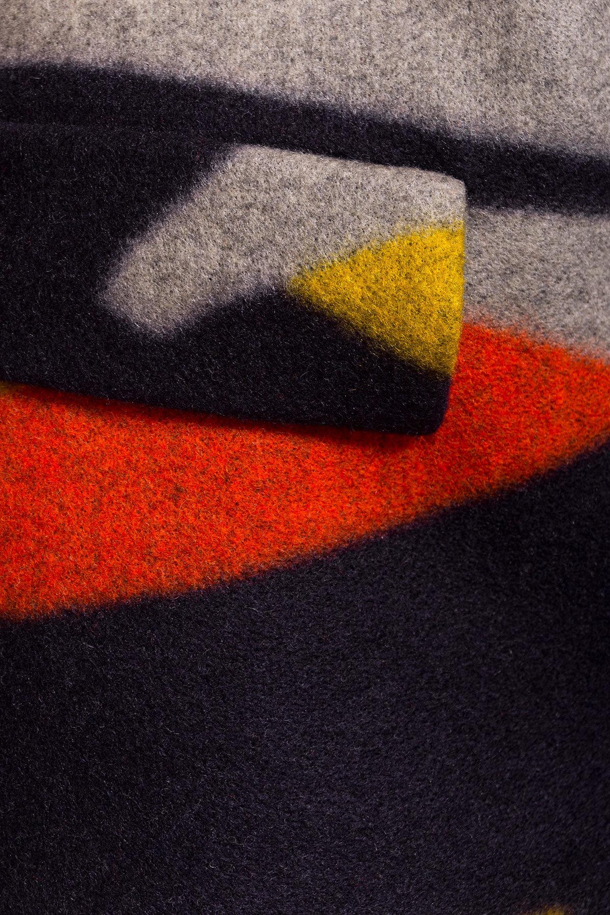 Пальто Микадо 1551  АРТ. 9220 Цвет: Тёмно-синий/серый/теракот/жёлтая-рябь Д1/С1 - фото 4, интернет магазин tm-modus.ru