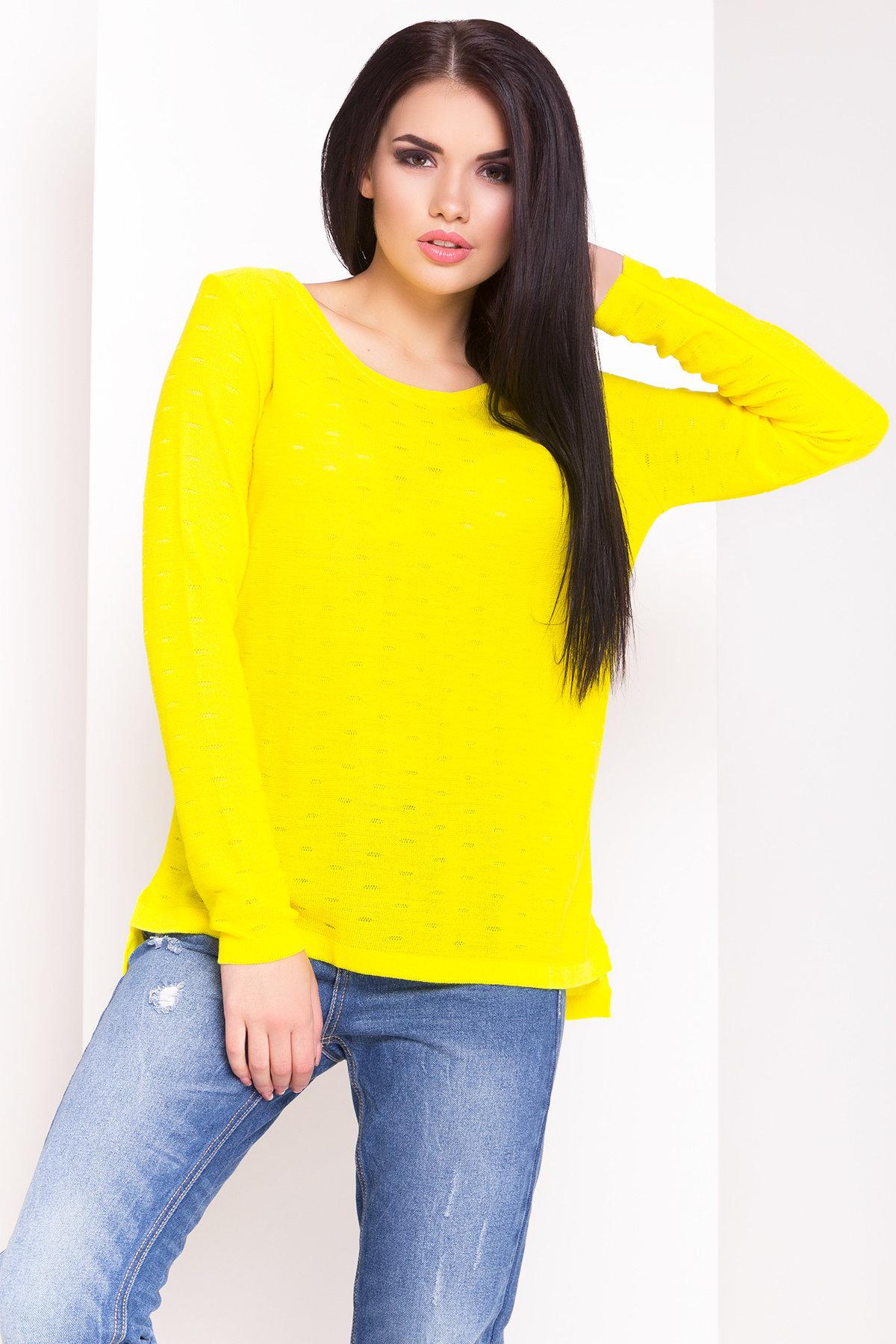 купить свитер нелли лало 3621 оптом в россии цвет желтый