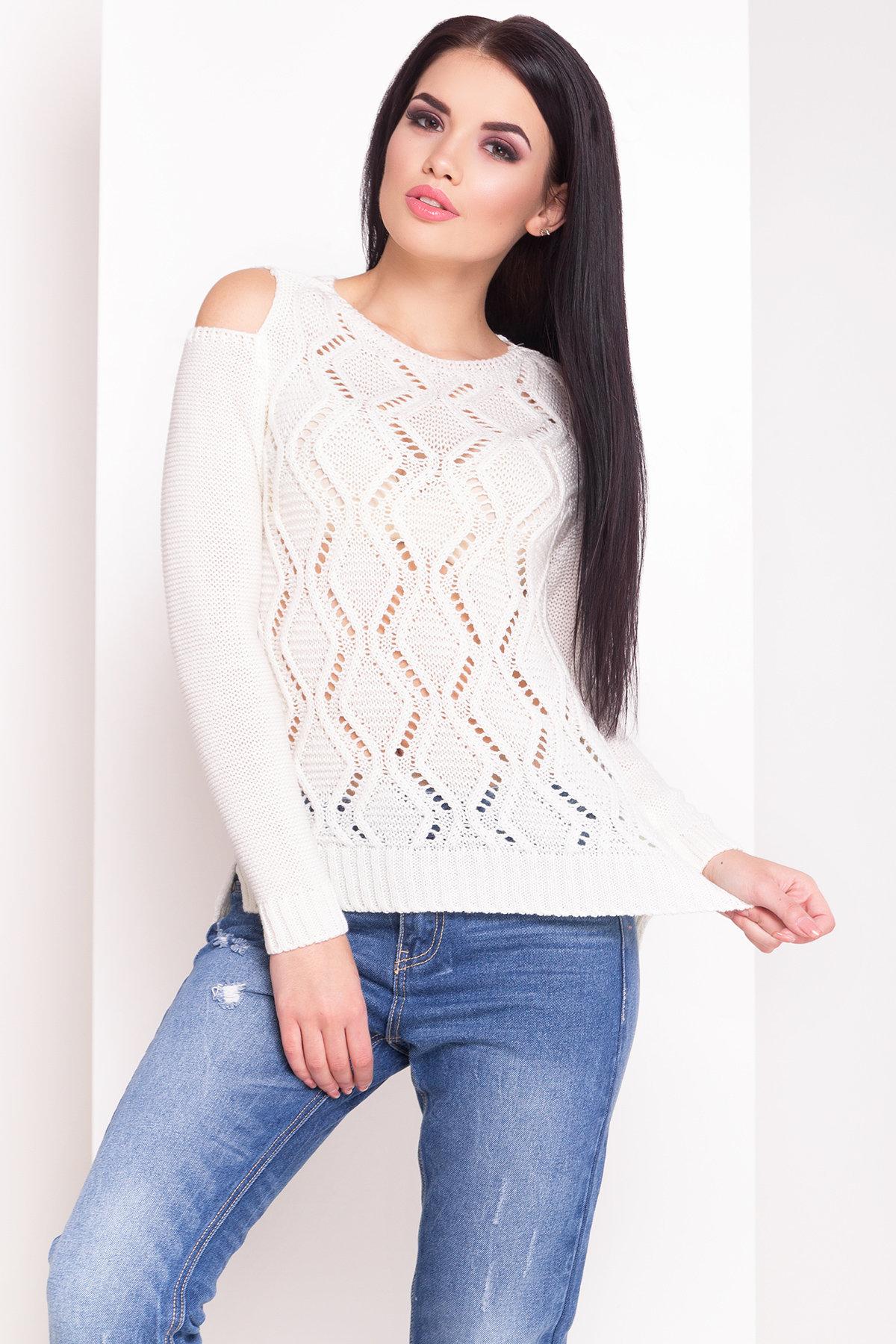 модели вязаных свитеров для женщин Свитер плечо Лало