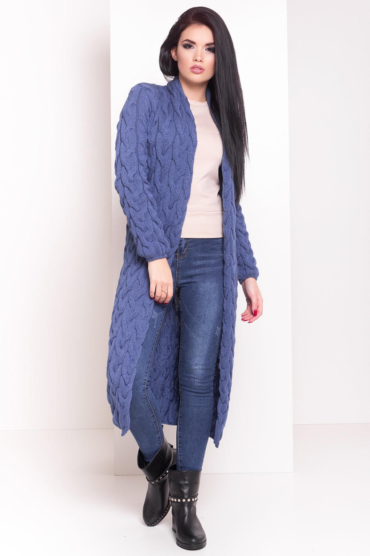 Кардиган длинный Лало Цвет: Синий 6068