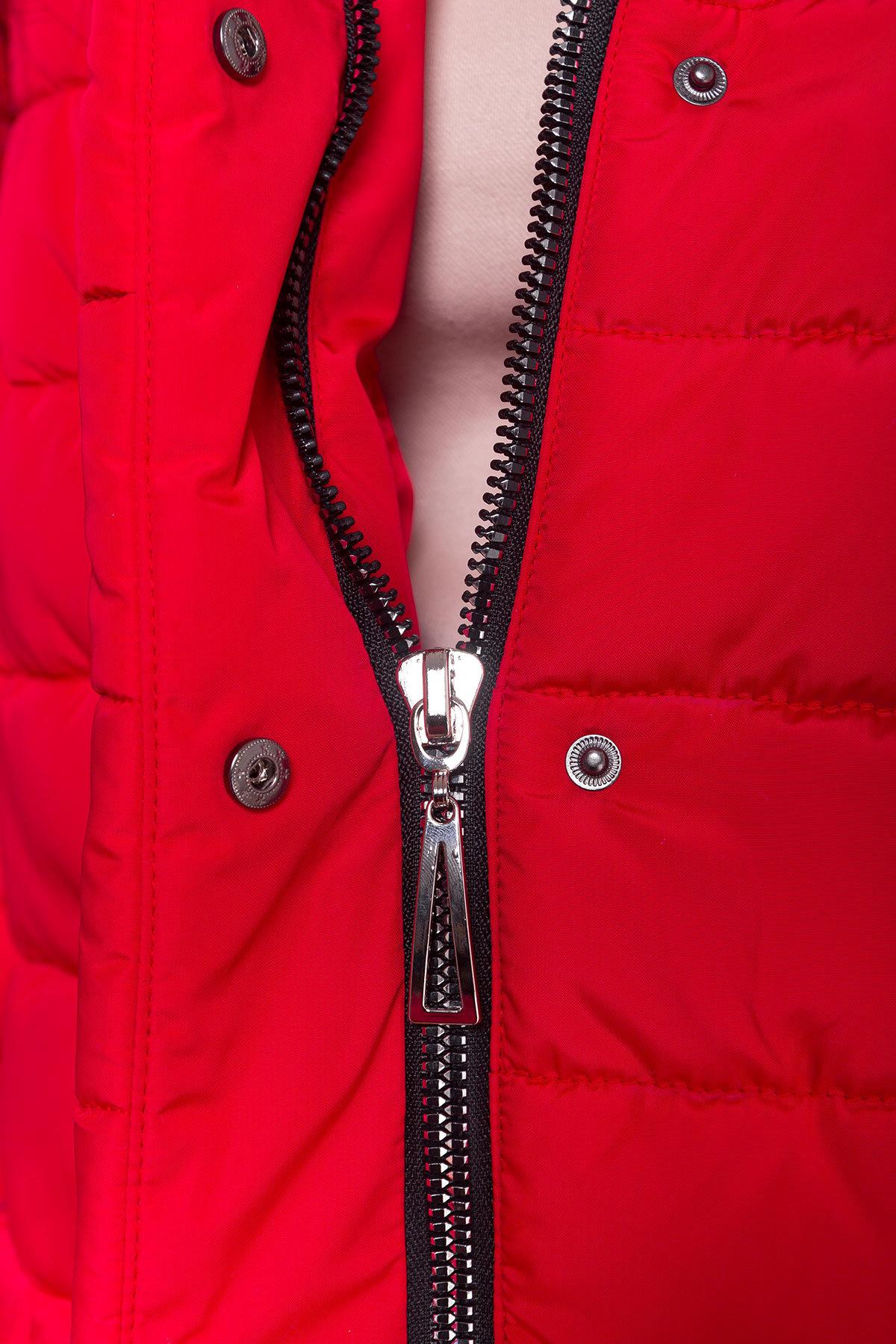 Пуховик с меховыми карманами Лили 3523 АРТ. 19110 Цвет: Красный - фото 6, интернет магазин tm-modus.ru