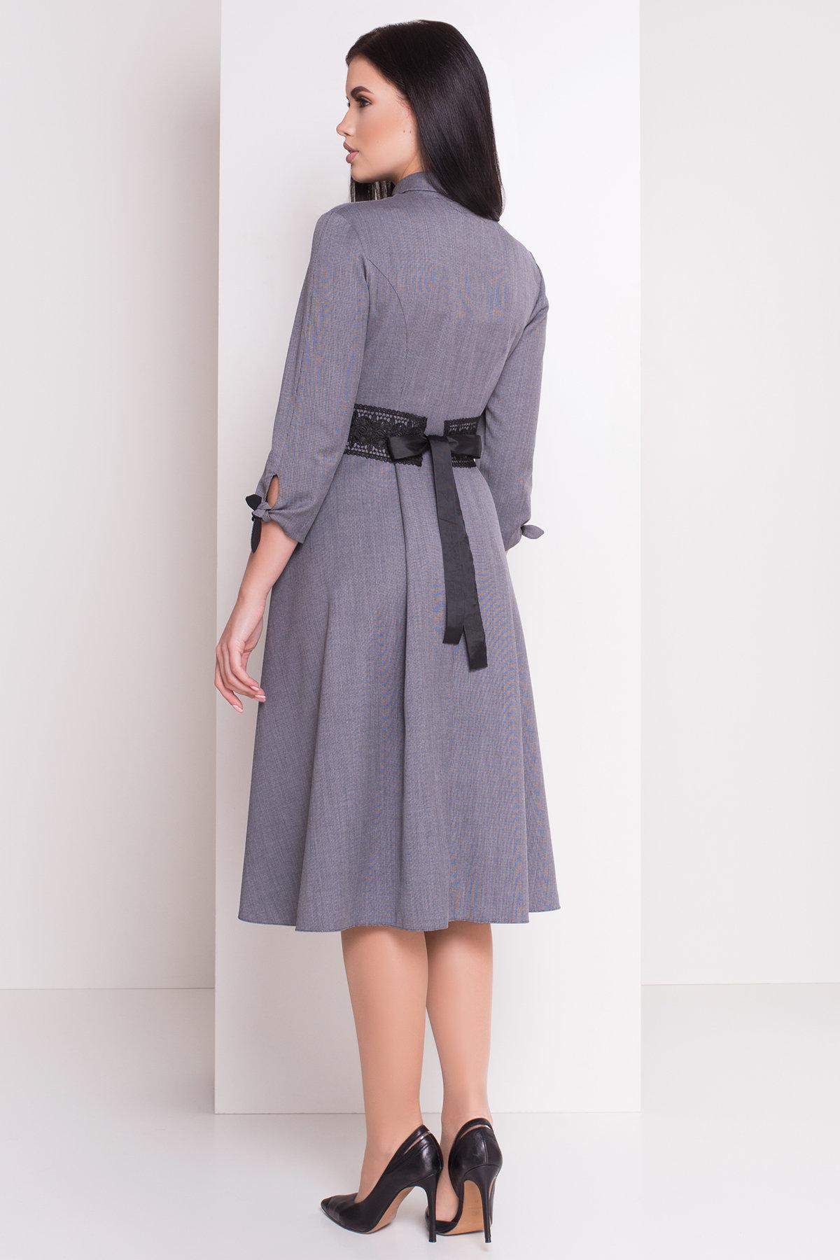 Платье Арго 3869 Цвет: Темно-синий/белый