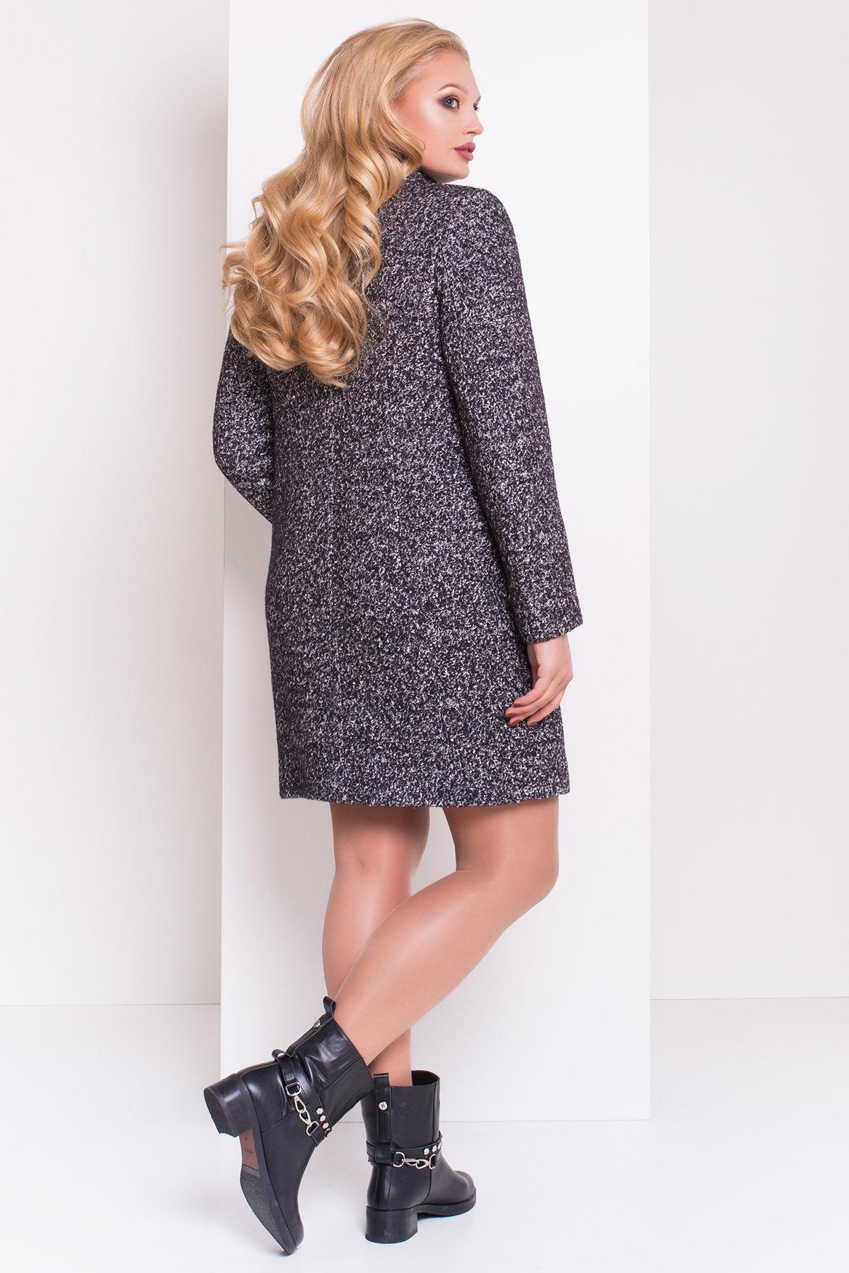 Пальто Donna зима Фортуна 3683 Цвет: Черный/серый