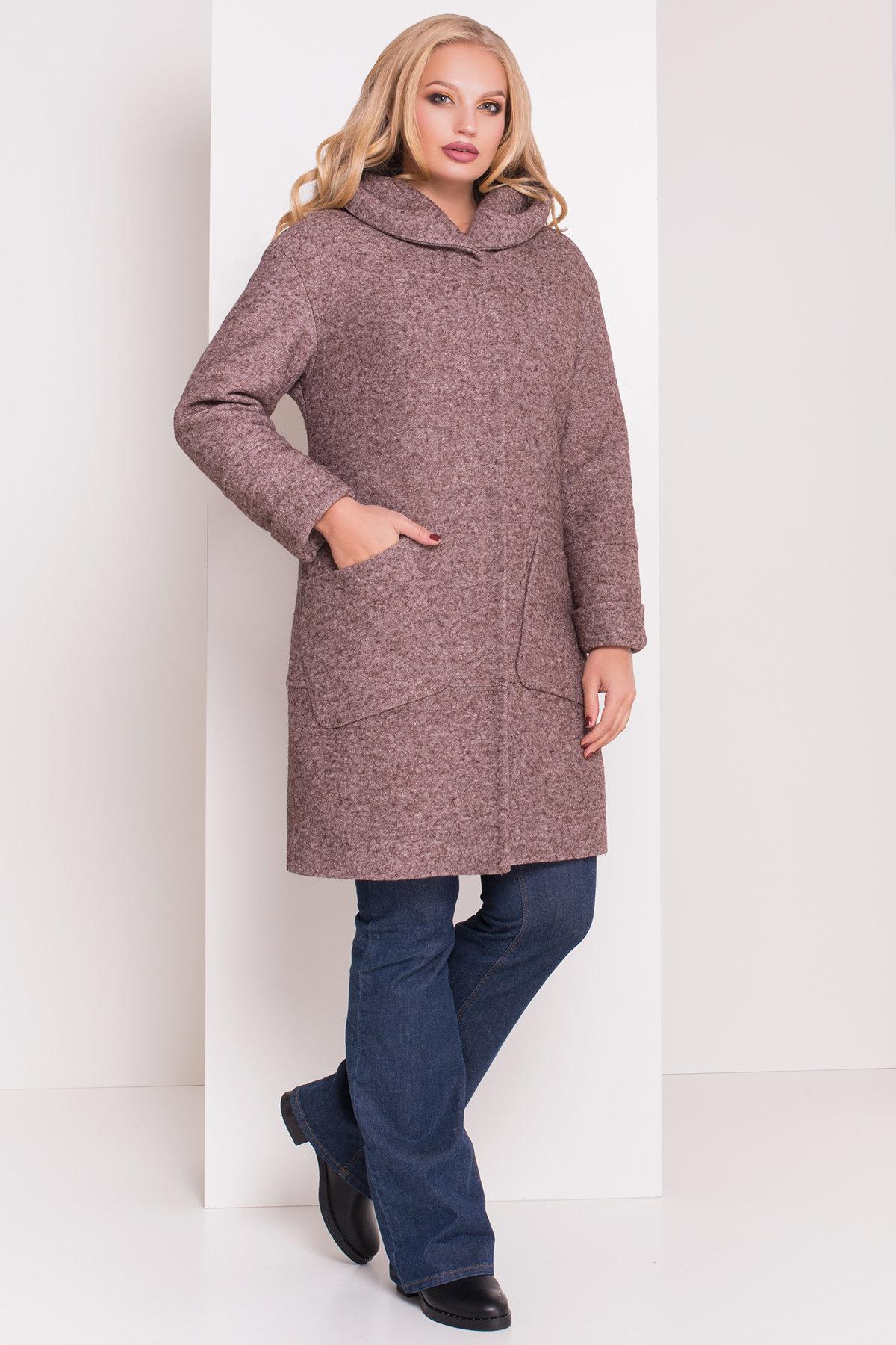 Пальто зима с капюшоном Анита Donna 3720 АРТ. 19287 Цвет: Кофе LW-4 - фото 1, интернет магазин tm-modus.ru