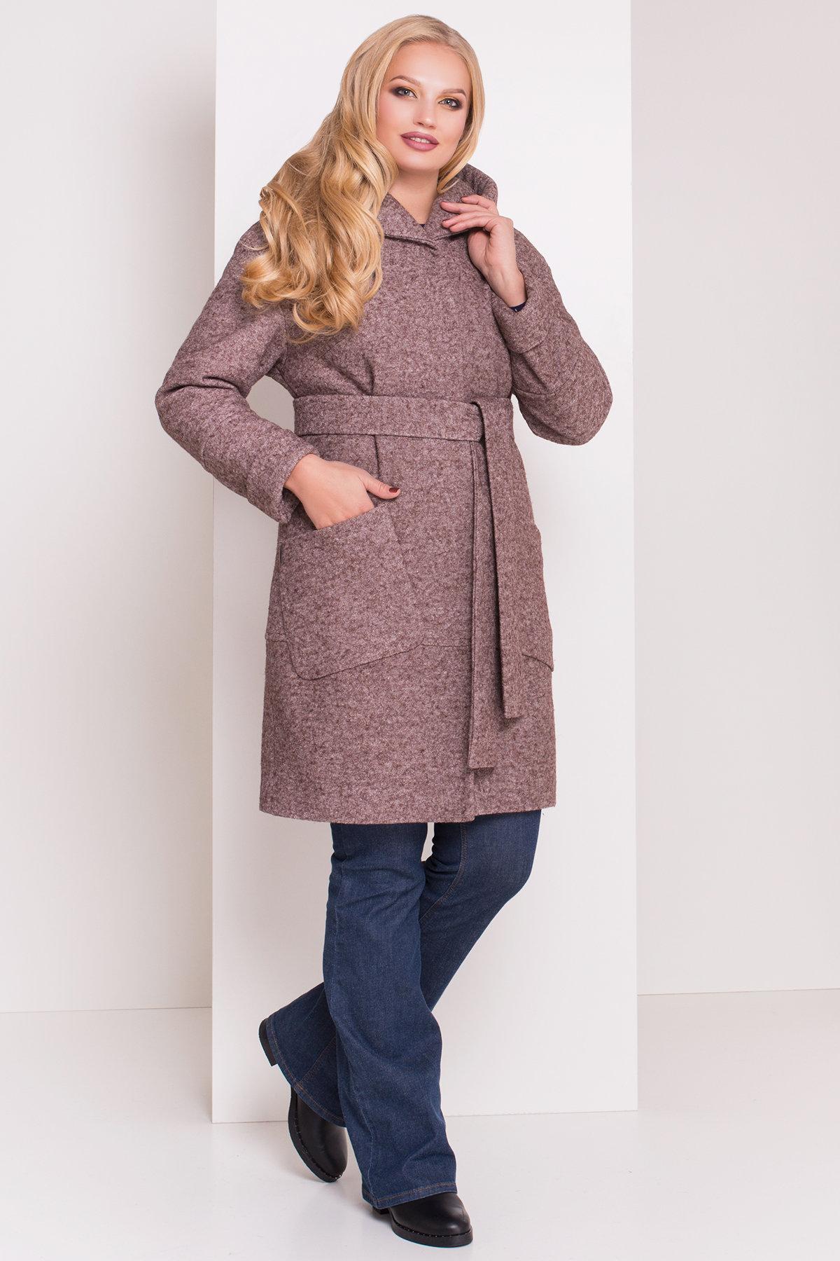 зимние пальто с мехом больших размеров Пальто зима с капюшоном Анита Donna 3720