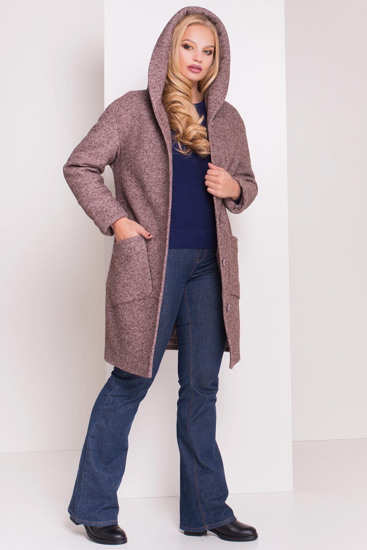 Пальто зима с капюшоном Анита Donna 3720 АРТ. 19287 Цвет: Кофе LW-4 - фото 3, интернет магазин tm-modus.ru
