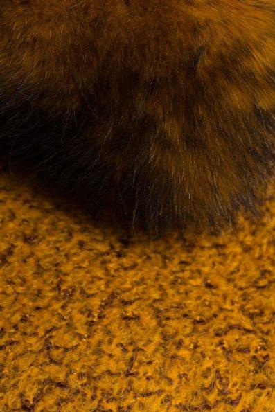 Пальто зима Сплит 0581 Цвет: Горчица
