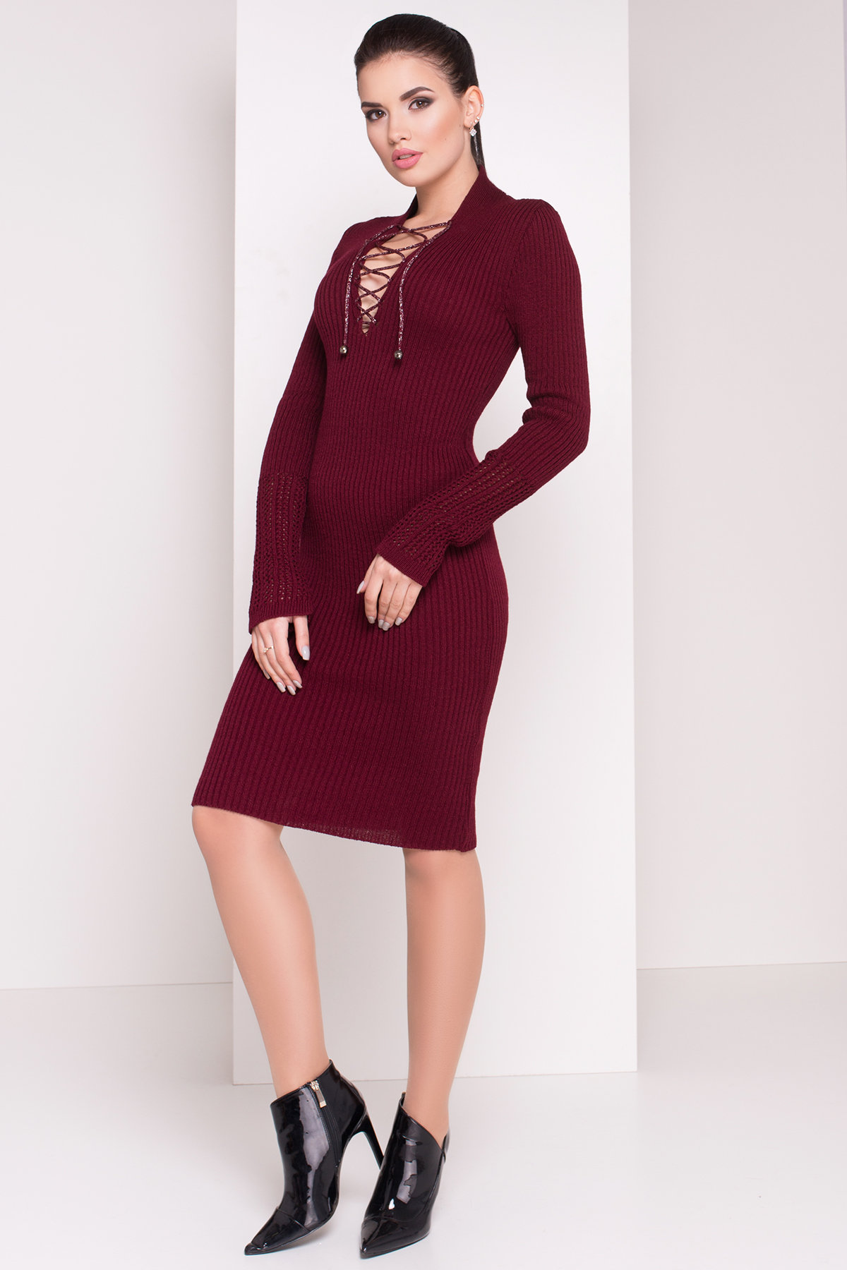 Платье Рианна 3853 Цвет: Бордо