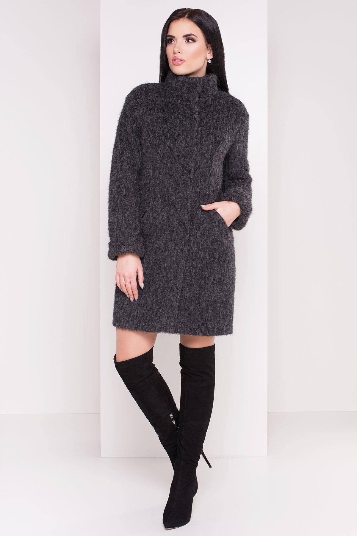 Пальто зима Рокси 4107 Цвет: Серый Темный Меланж