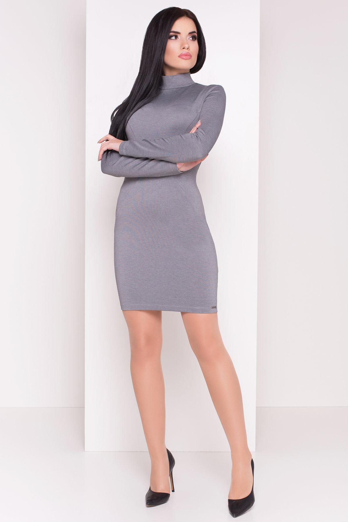 Платье Терция джерси АРТ. 6974 Цвет: Серый - фото 1, интернет магазин tm-modus.ru