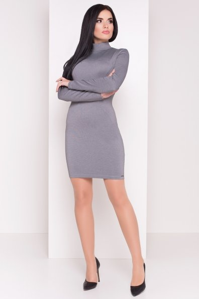 Трикотажное Платье Терция джерси Цвет: Серый