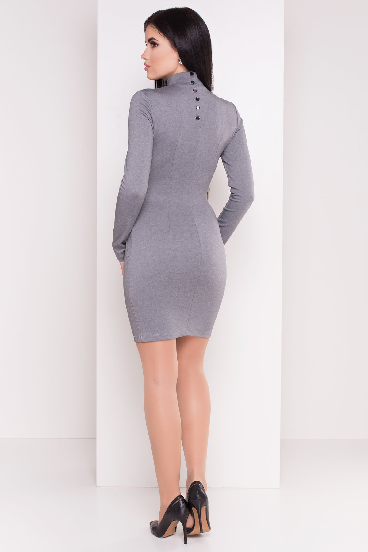 Платье Терция джерси АРТ. 6974 Цвет: Серый - фото 3, интернет магазин tm-modus.ru