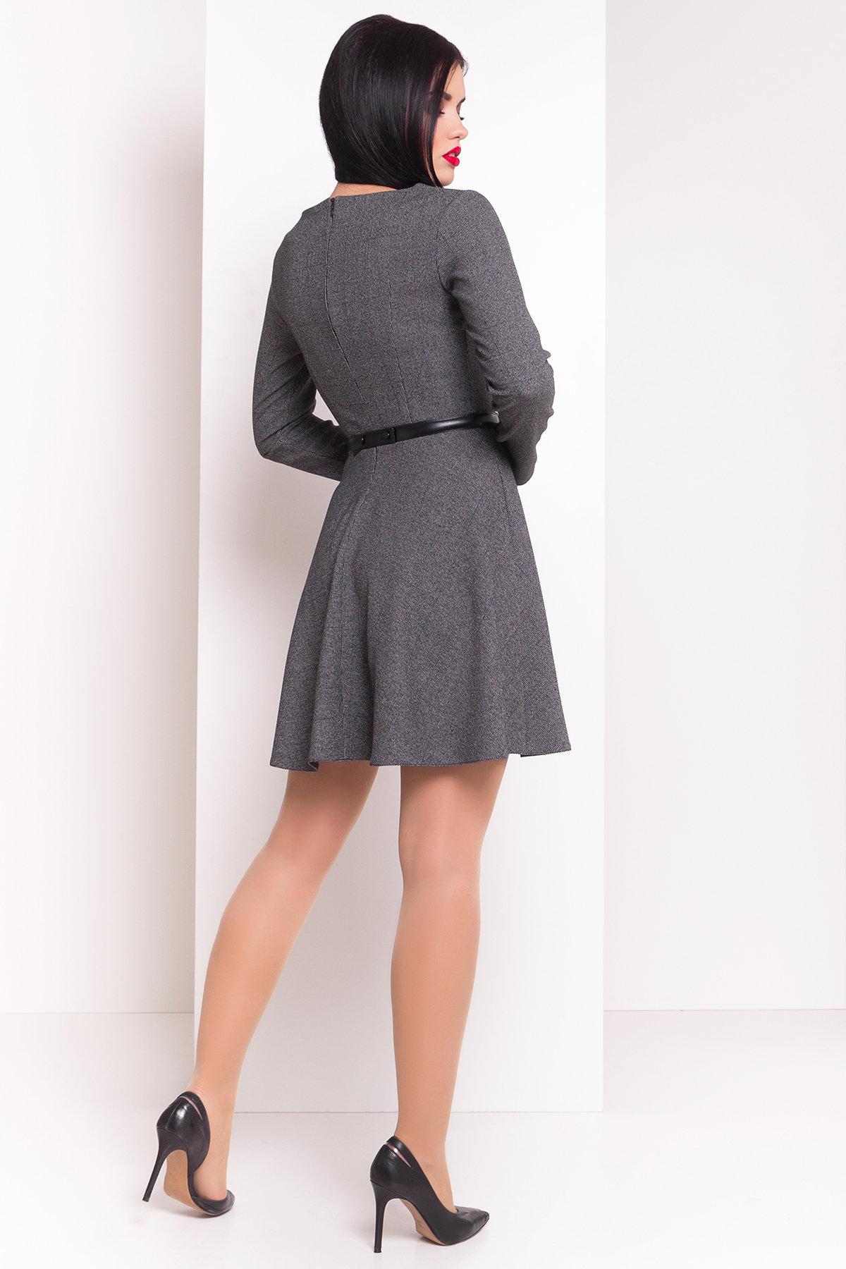 Платье Сафо 3693 АРТ. 19226 Цвет: Черный/серый - фото 2, интернет магазин tm-modus.ru