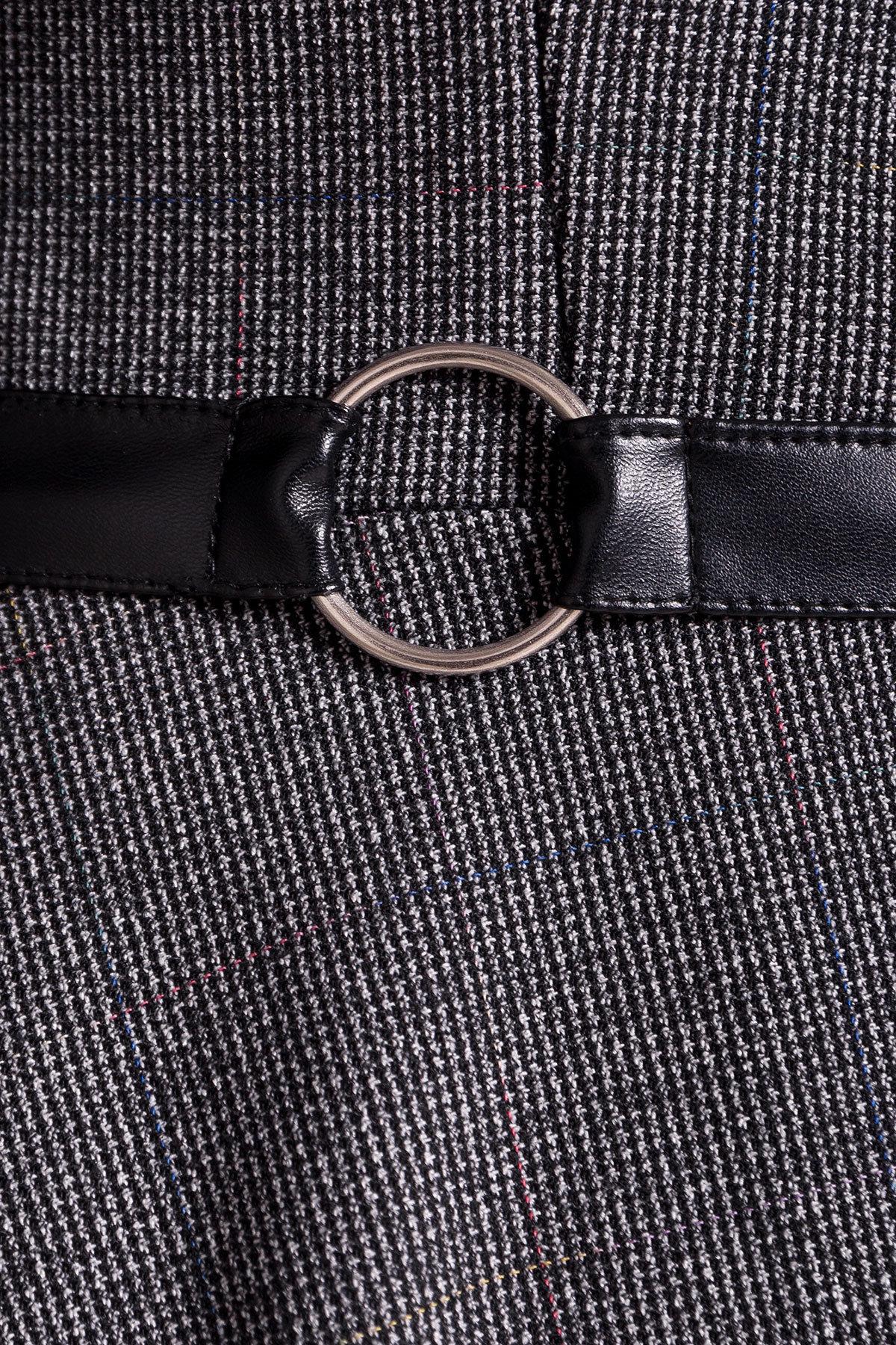 Платье Сафо 3693 АРТ. 19226 Цвет: Черный/серый - фото 3, интернет магазин tm-modus.ru