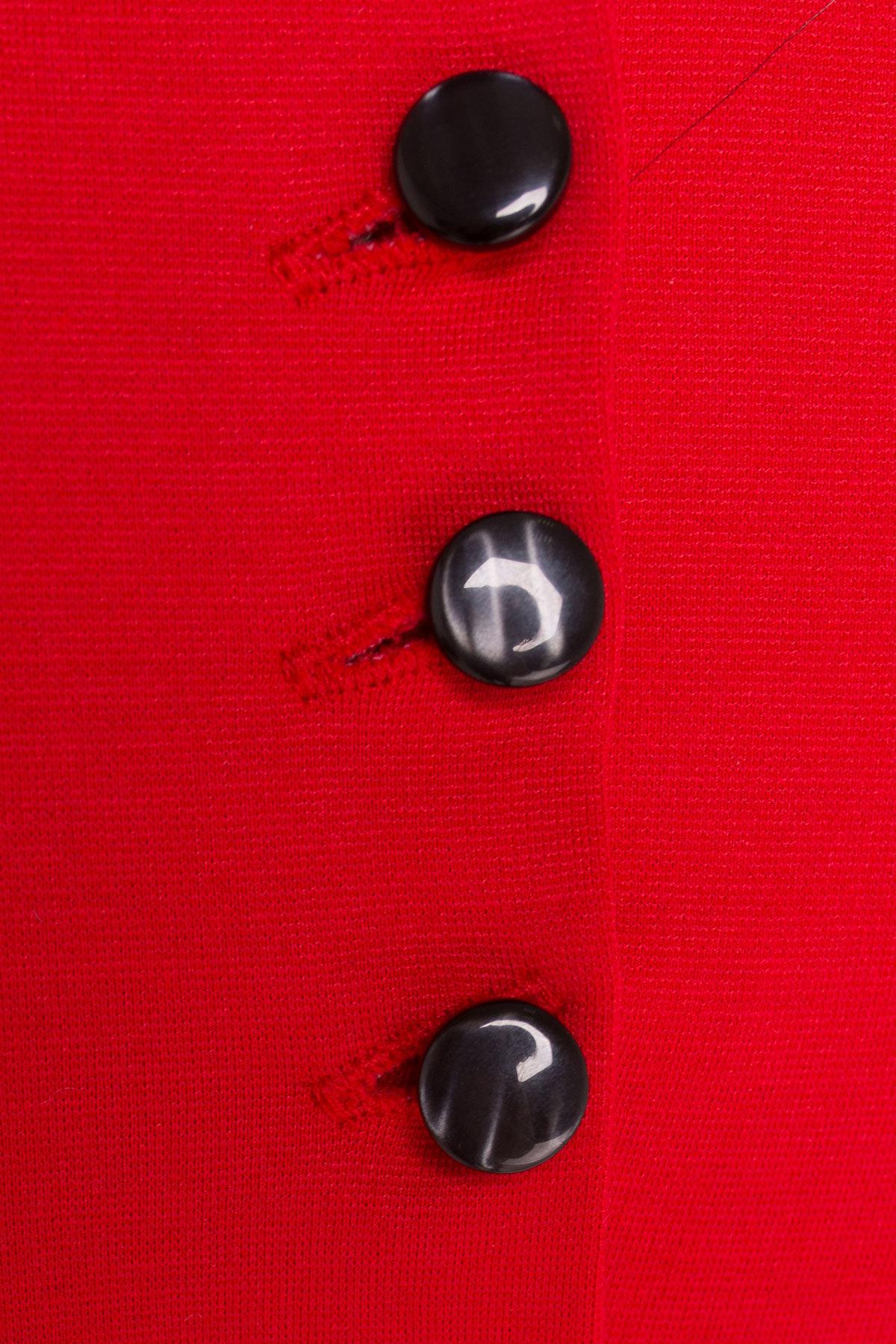 Платье Терция джерси АРТ. 7070 Цвет: Красный - фото 3, интернет магазин tm-modus.ru