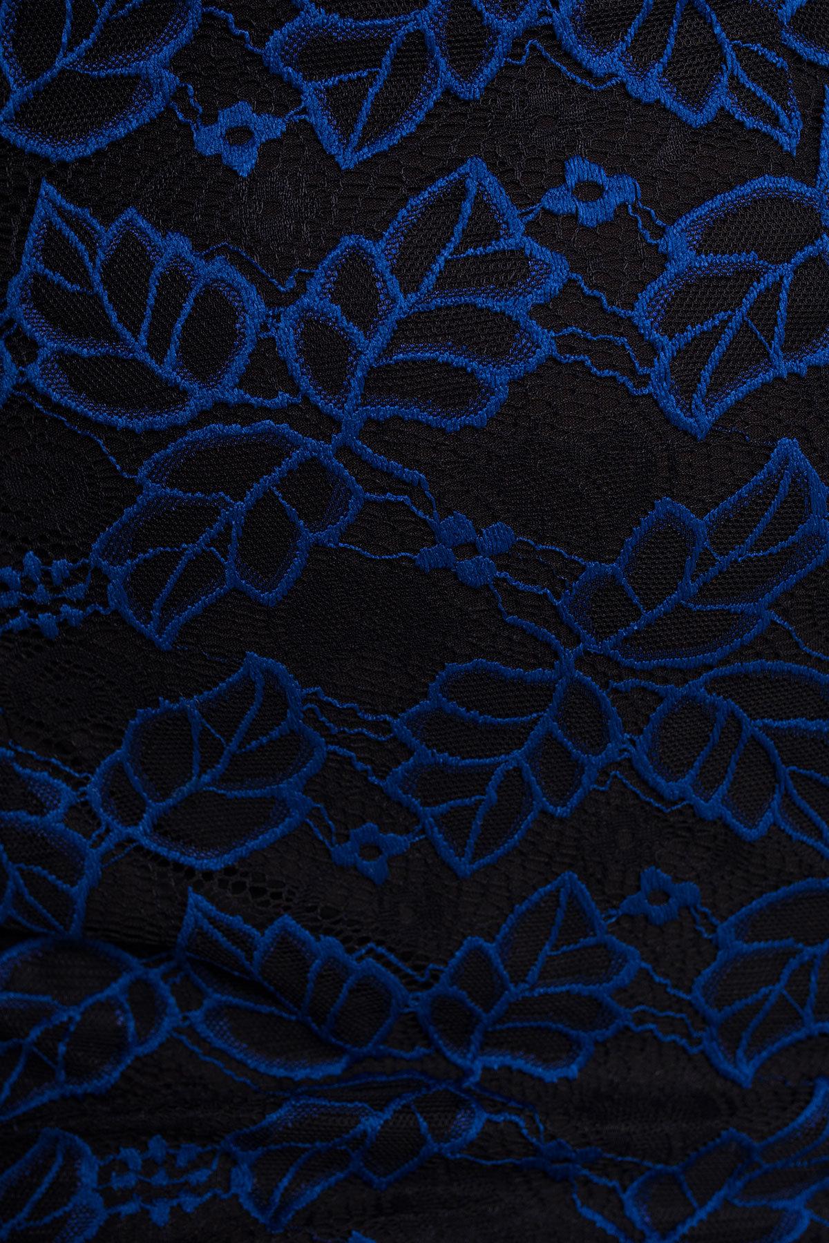 Платье Олифта 1208 Цвет: Электрик / Черный