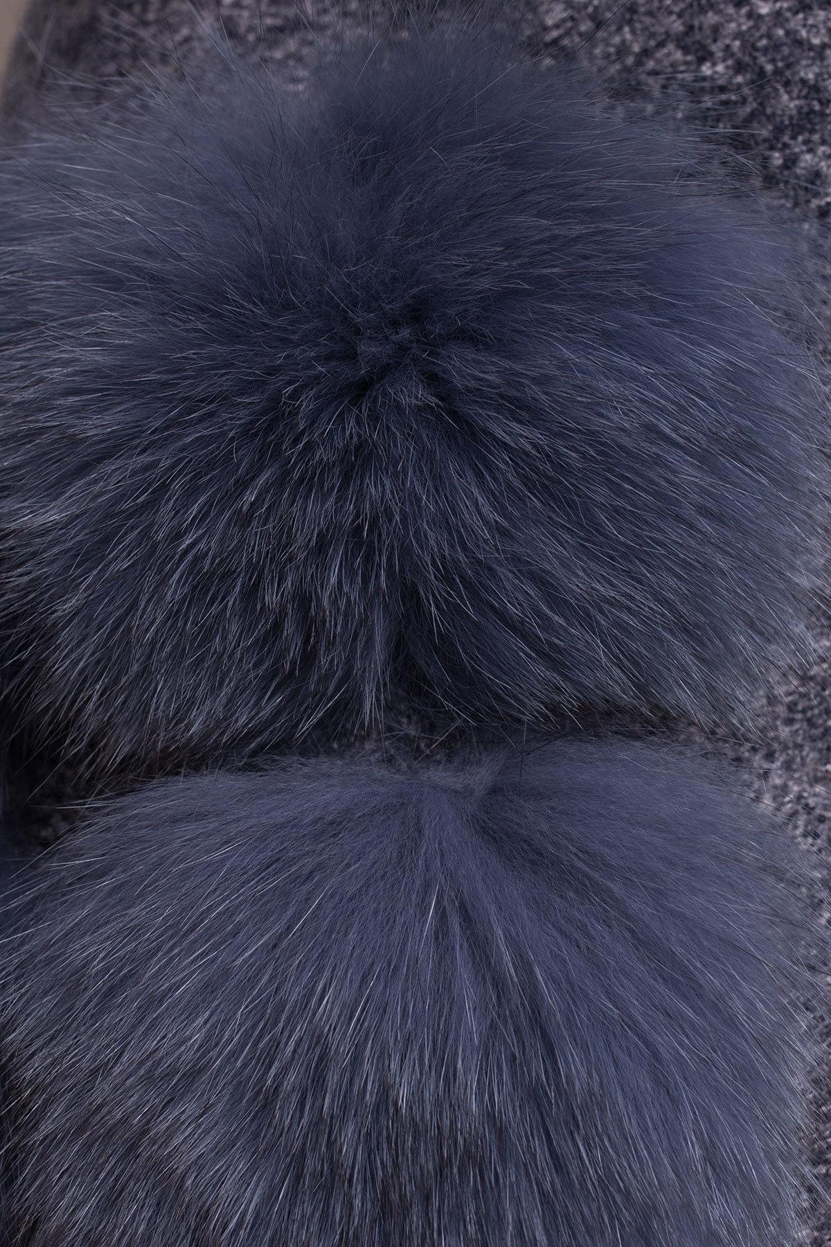 Пальто зима Клодис 3811 Цвет: Серый темный LW-22