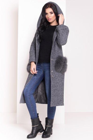 Пальто зима Анита 4181 Цвет: Серый Темный LW-5