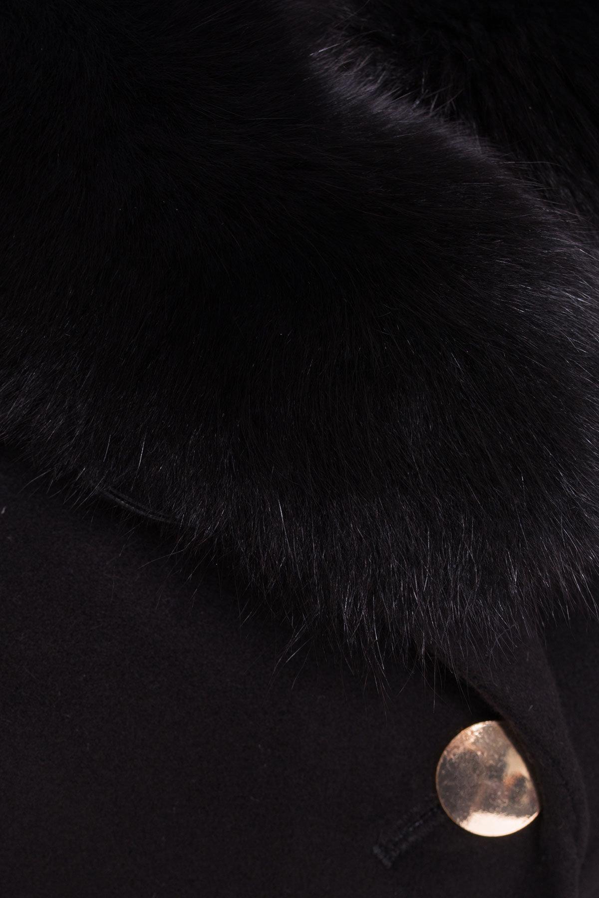 Пальто Кураж Donna зима песец турция элит АРТ. 4542 Цвет: Черный - фото 3, интернет магазин tm-modus.ru