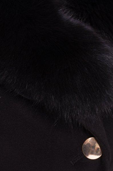 Пальто Кураж Donna зима песец турция элит Цвет: Черный