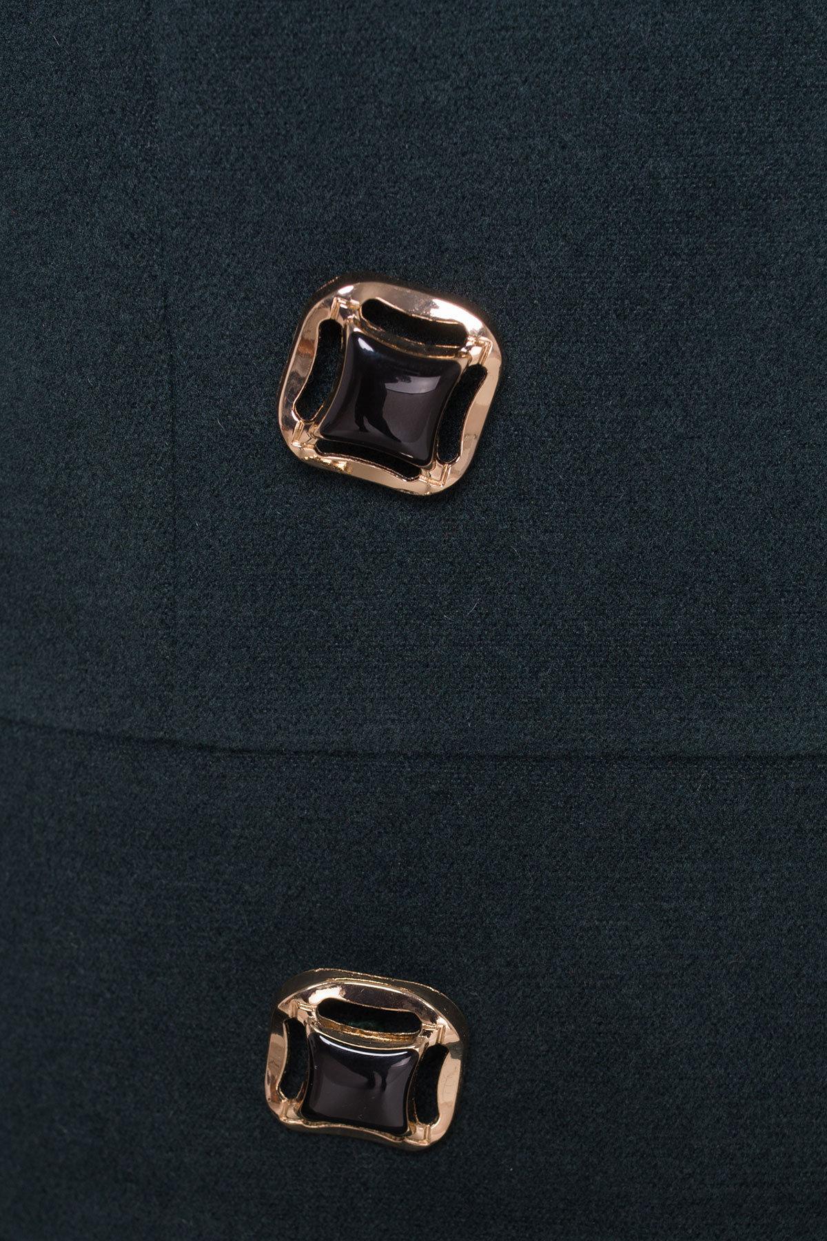 Пальто Кураж 96 Donna зима Цвет: Тёмно-зеленый