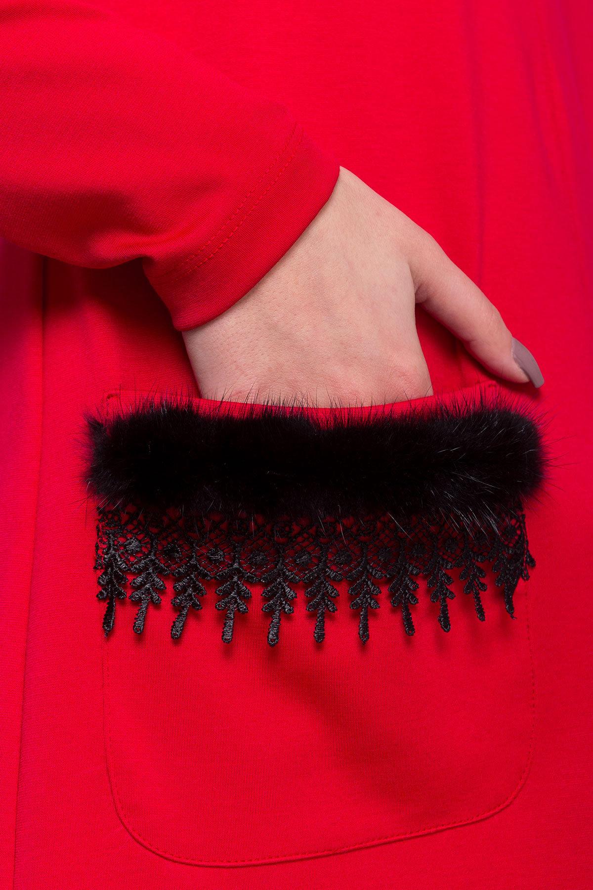 Платье Либас джерси  АРТ. 8346 Цвет: Красный - фото 3, интернет магазин tm-modus.ru