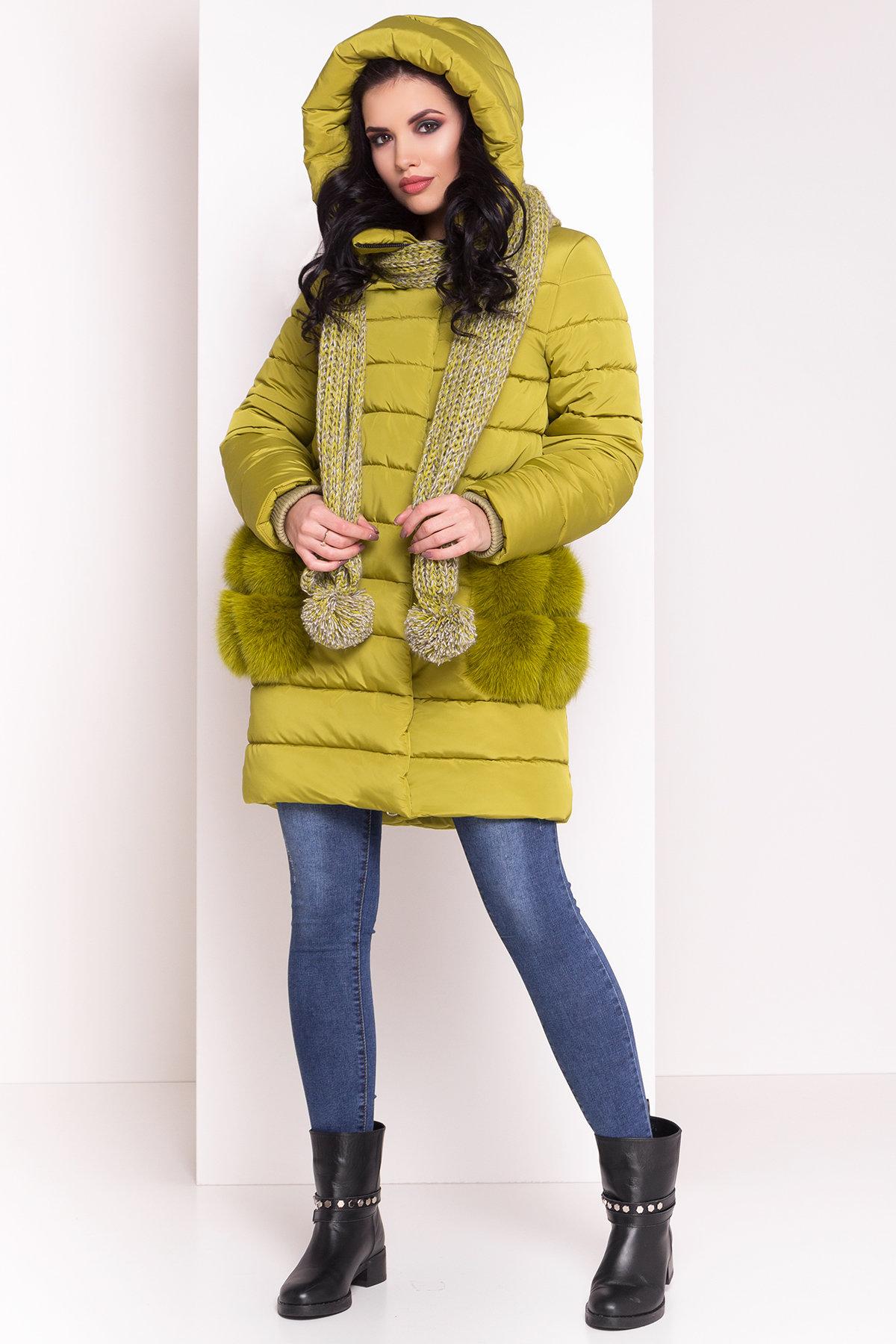 пуховики женские производитель Украина Пуховик с меховыми карманами Лили 3523