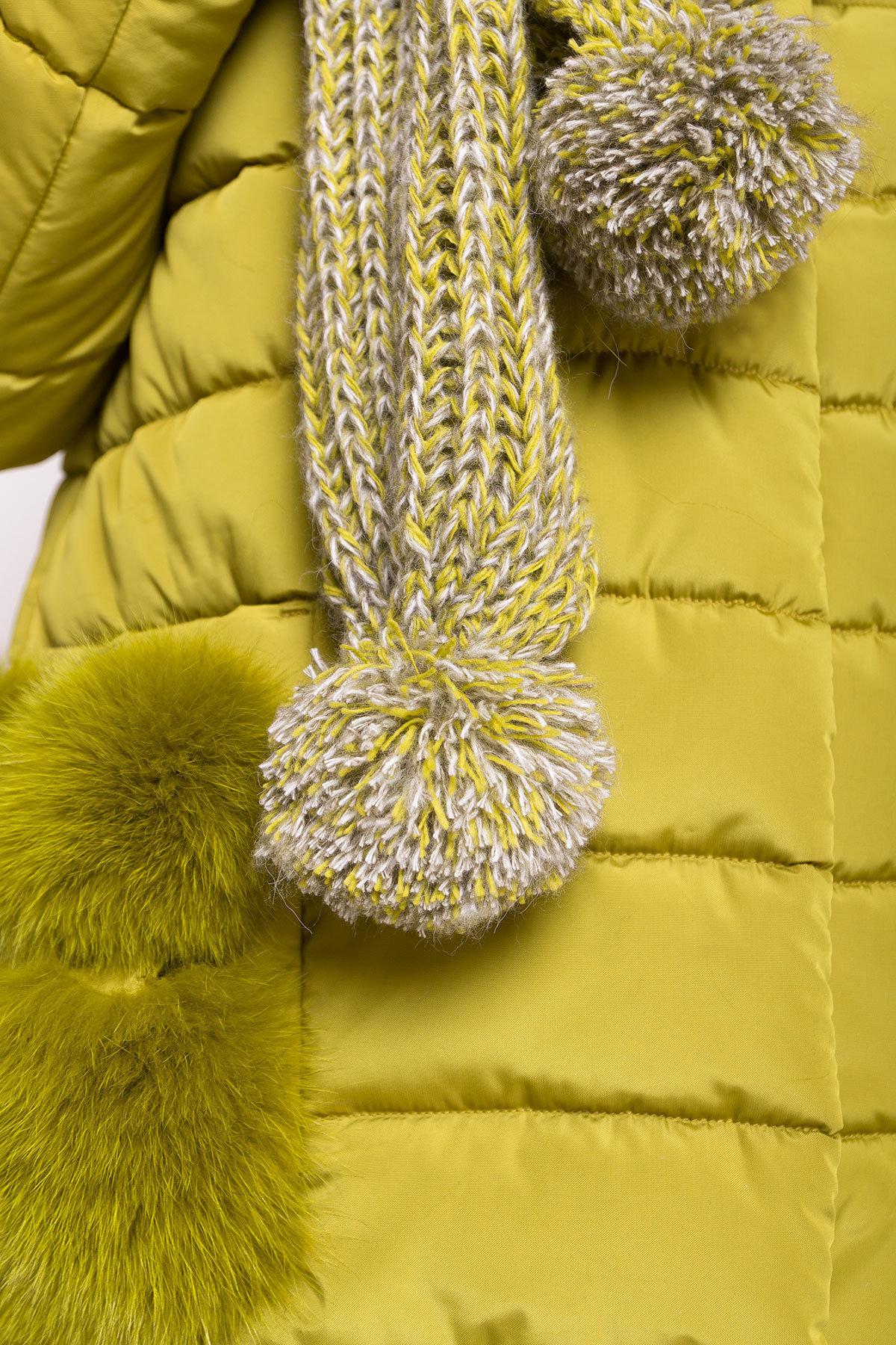 Пуховик с меховыми карманами Лили 3523 АРТ. 19152 Цвет: Олива - фото 4, интернет магазин tm-modus.ru