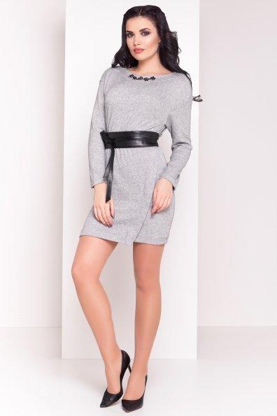 Платье Лайма 3870 Цвет: Серый/бежевый