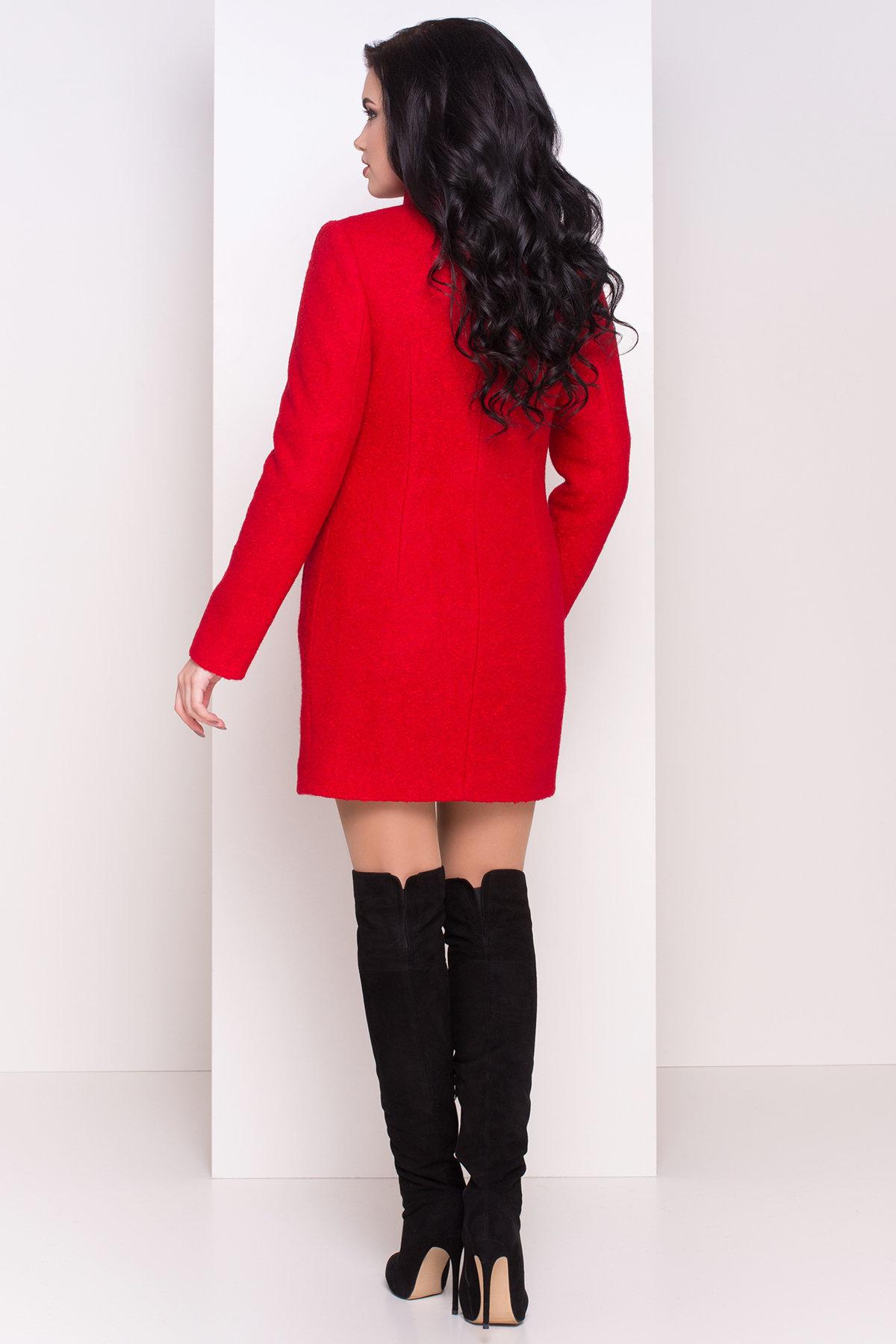 Зимнее пальто шерсть-букле Сан-Ремо 0939 АРТ. 8303 Цвет: Красный - фото 3, интернет магазин tm-modus.ru