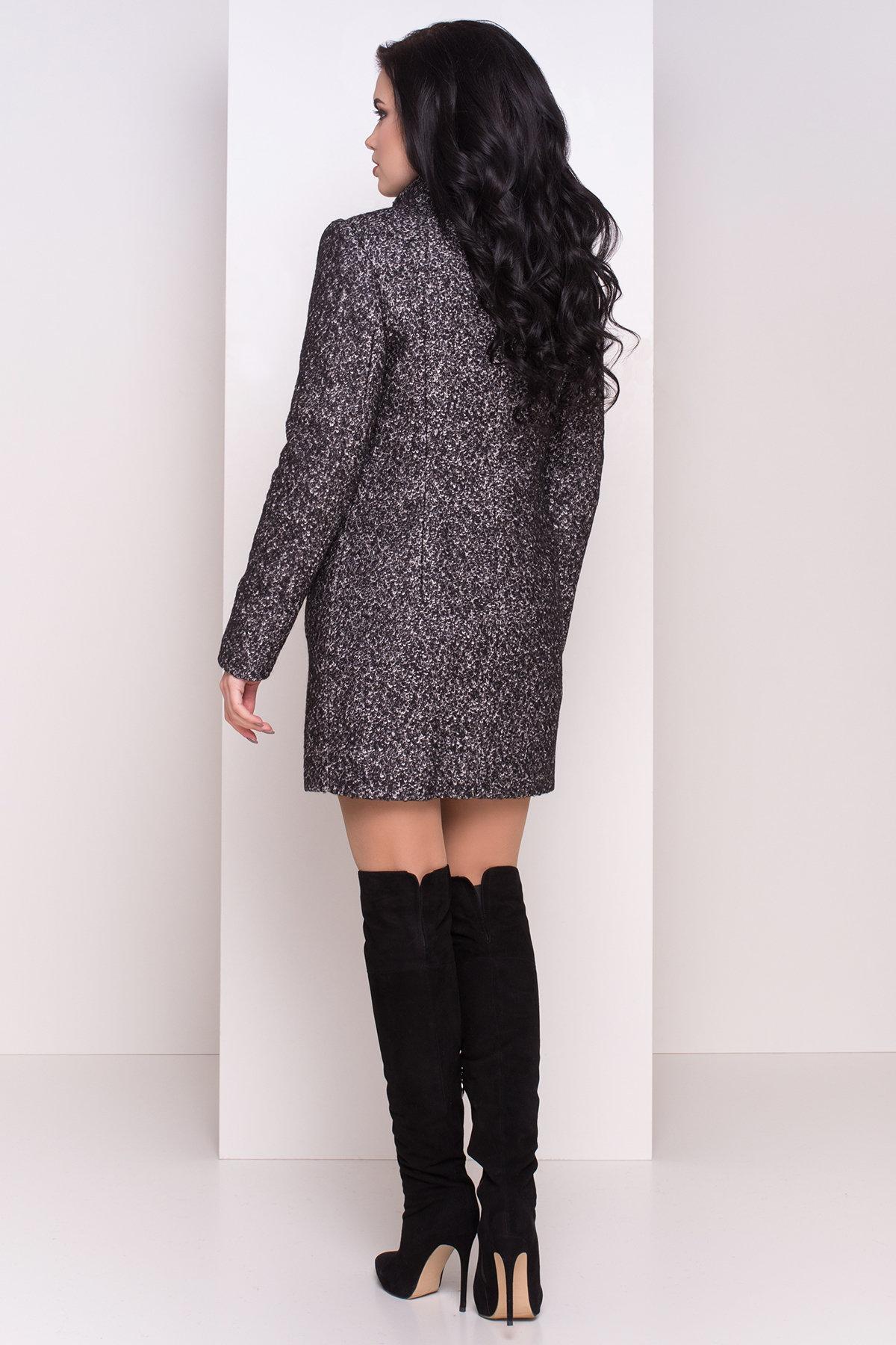 Зимнее пальто шерсть-букле Сан-Ремо 0939 АРТ. 8300 Цвет: Черный / серый 6 - фото 3, интернет магазин tm-modus.ru