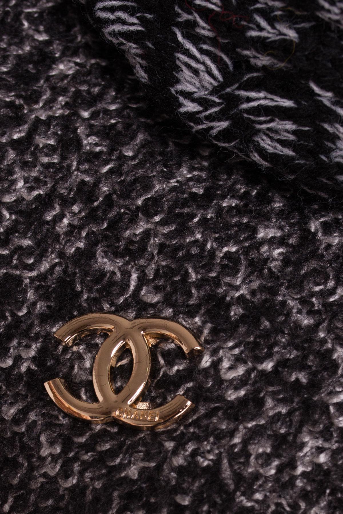 Зимнее пальто шерсть-букле Сан-Ремо 0939 АРТ. 8300 Цвет: Черный / серый 6 - фото 4, интернет магазин tm-modus.ru